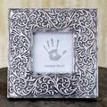 Handmade Aluminum 'Silver Vines' Photo Frame (India)