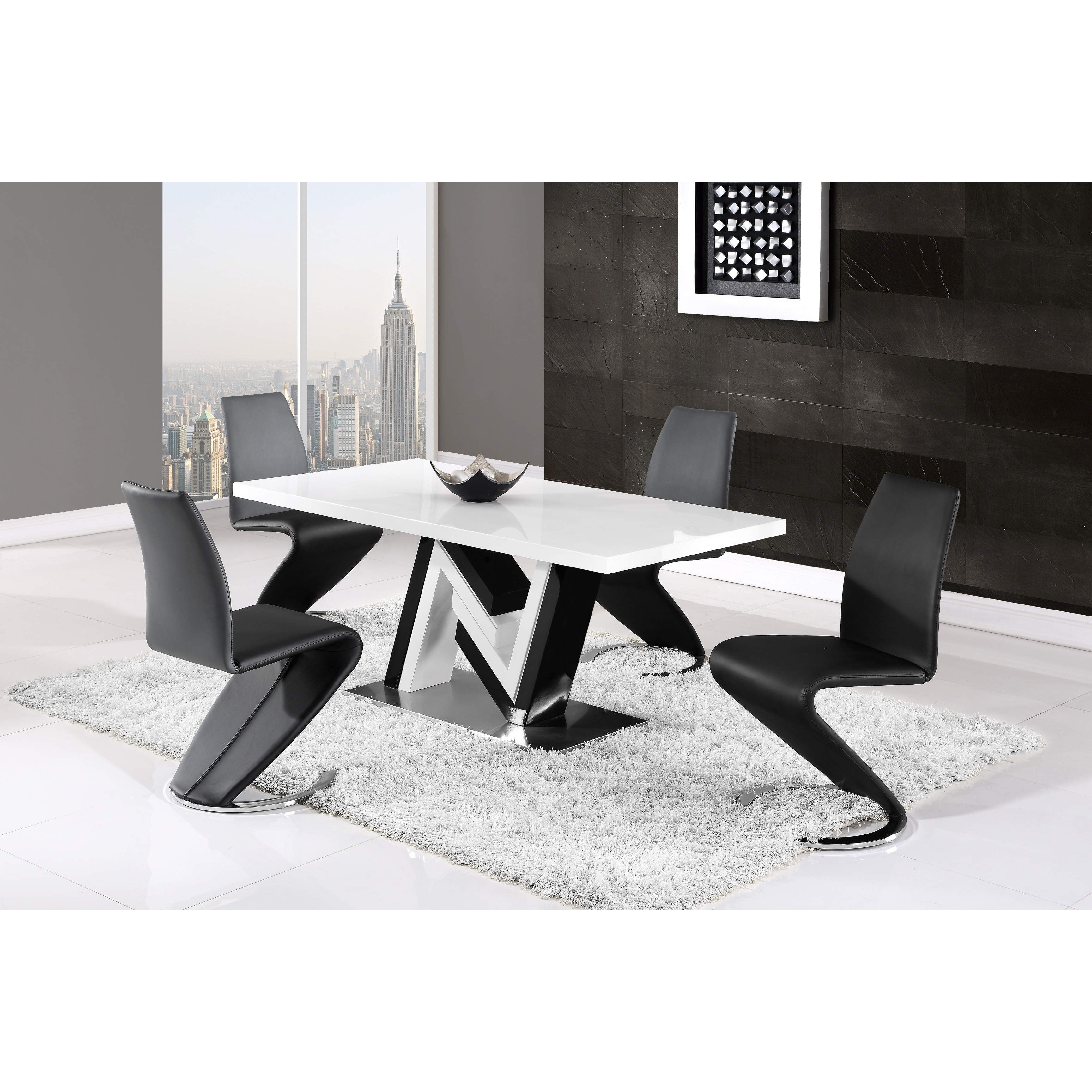 Global Furniture Contemporary Black and White Dining Table - Free ...