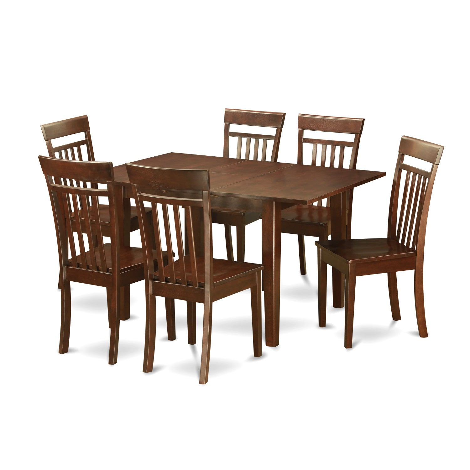 Shop PSCA7-MAH 7-piece Small Kitchen Table Set - Free Shipping Today on