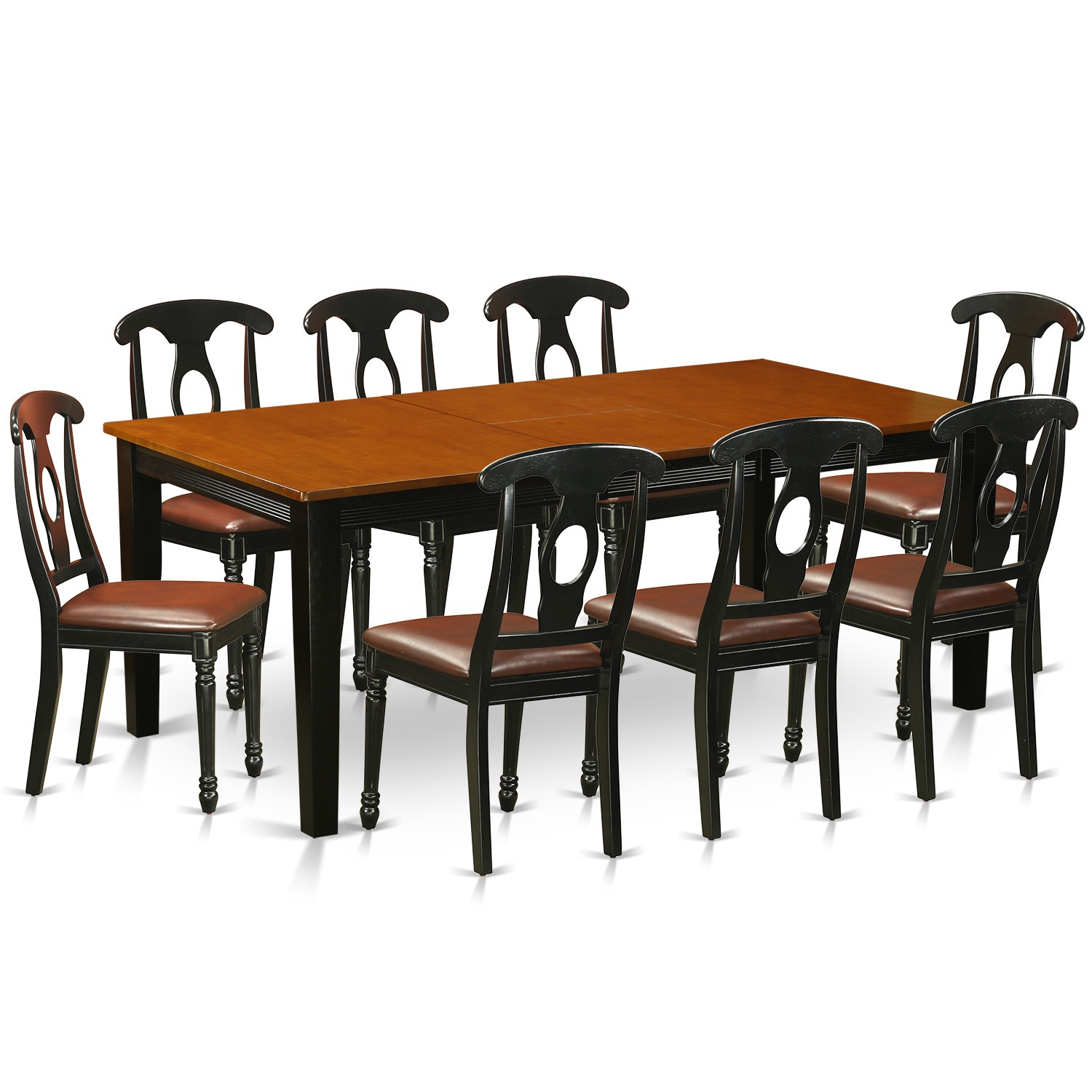 Shop black cherry finish rubberwood dining table with 8 dining chairs free shipping today overstock com 11967656