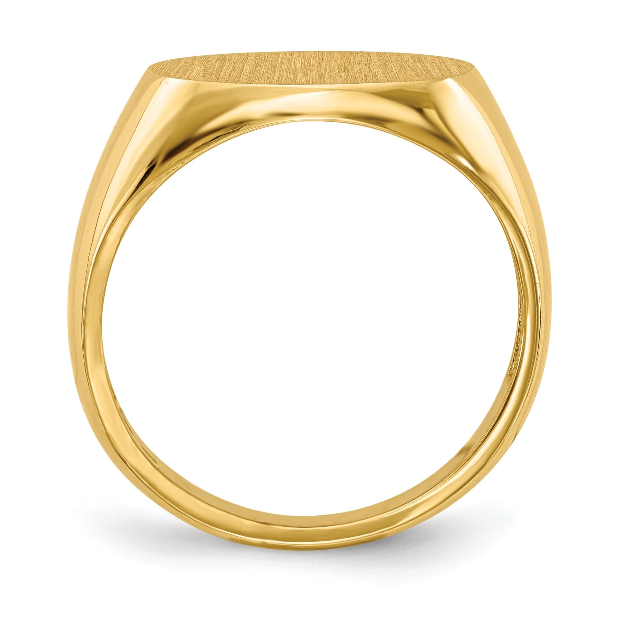 f20136e58026c5 Shop Versil Men's 14 Karat Gold Tapered Signet Ring - On Sale - Free  Shipping Today - Overstock - 11967680