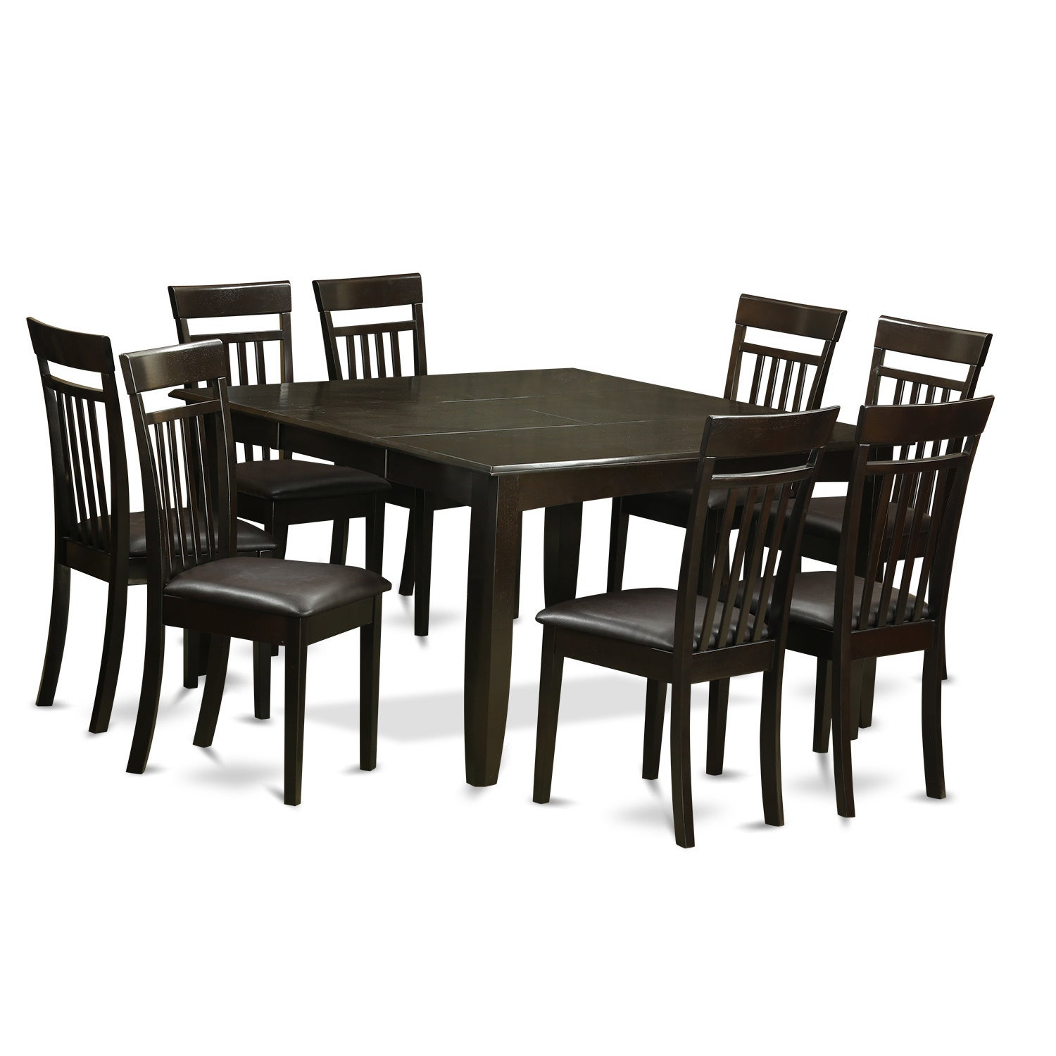 Captivating Shop 9 Piece Cappuccino Brown Rubberwood Dining Room Set   Free Shipping  Today   Overstock.com   11967736