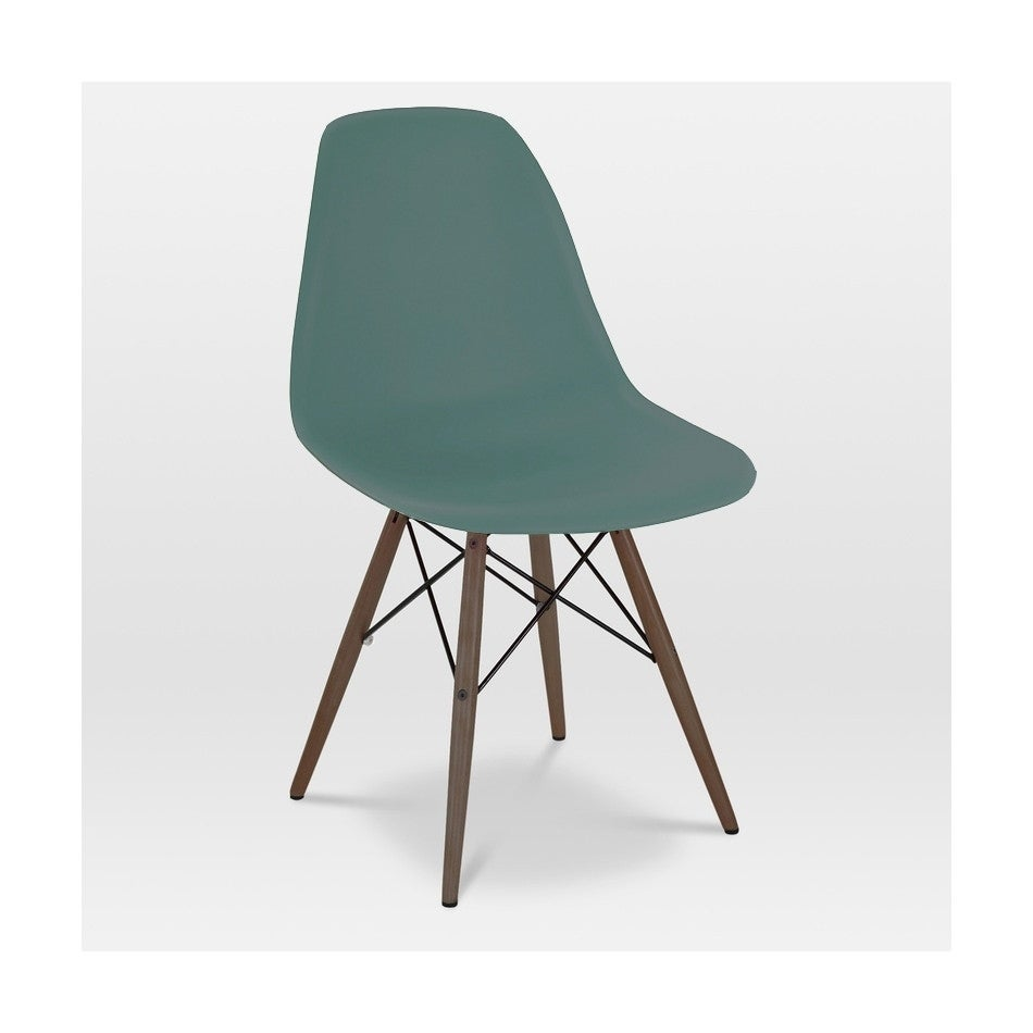 Trige Navy Green Mid Century Side Chair Walnut Base (Set Of 2)   Free  Shipping Today   Overstock   18852557