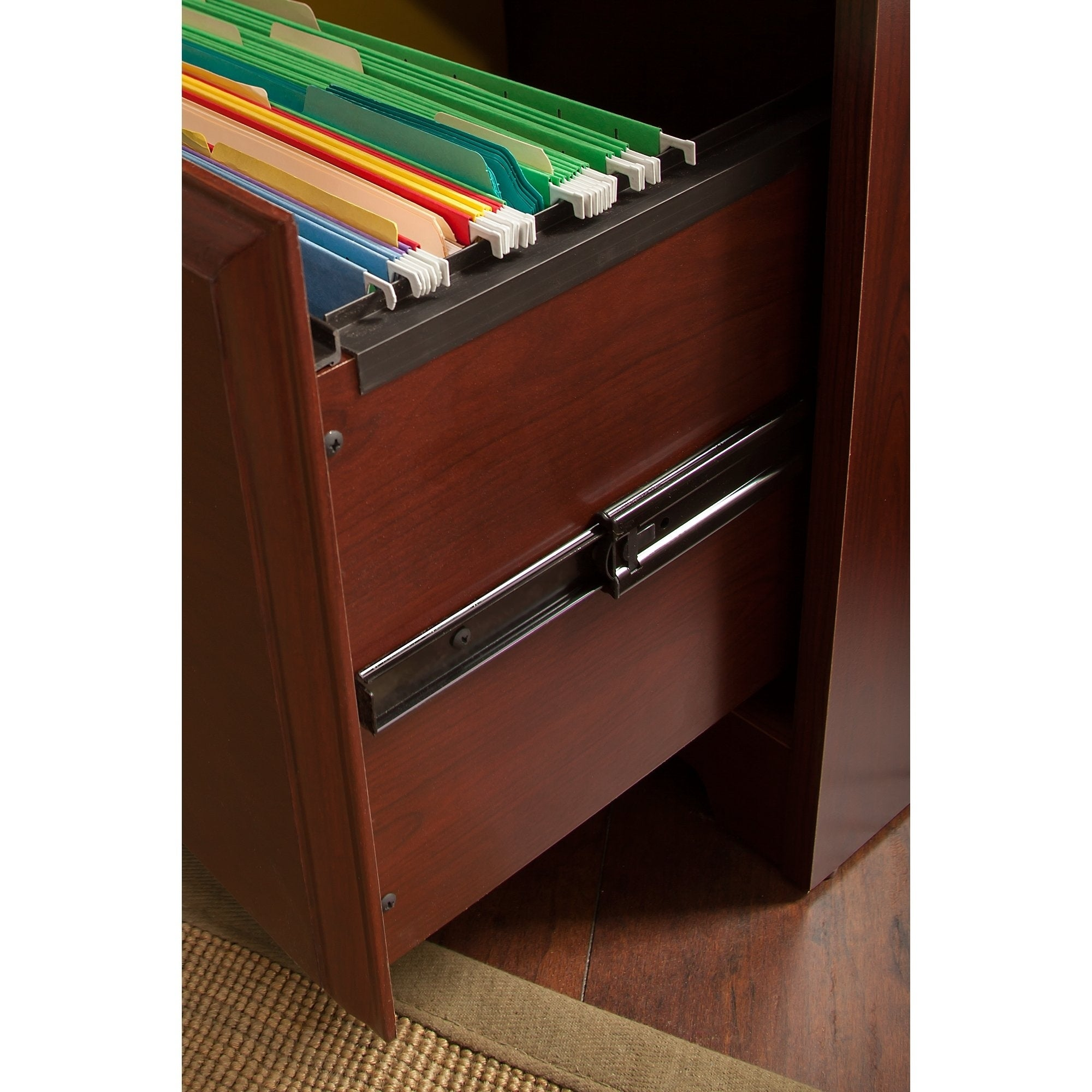 Cabot Computer Desk With 16 Cube Bookcase And File Cabinet In Oak Free Shipping Today 11968462