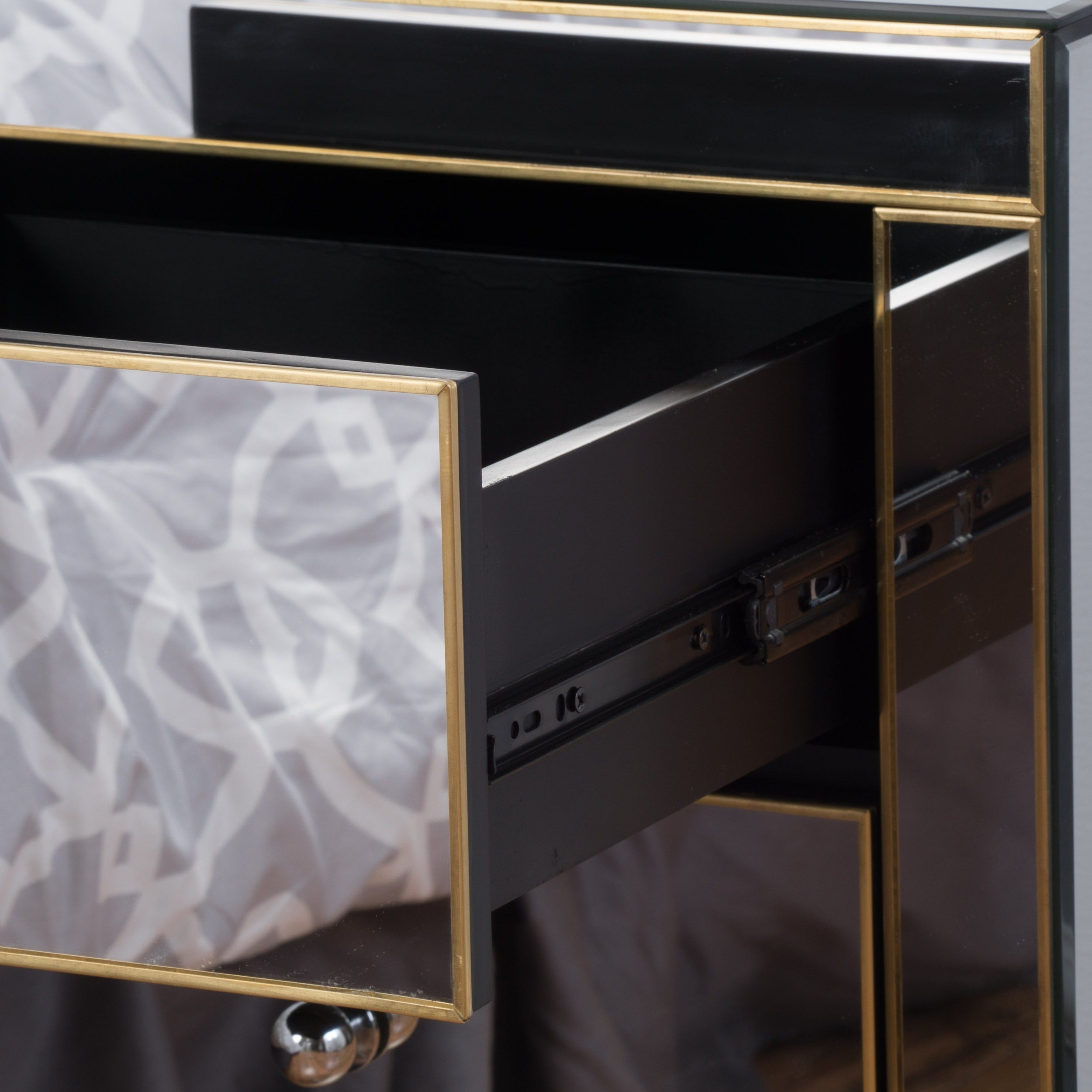 Segundo Three Drawer Mirrored End Table by Christopher Knight Home