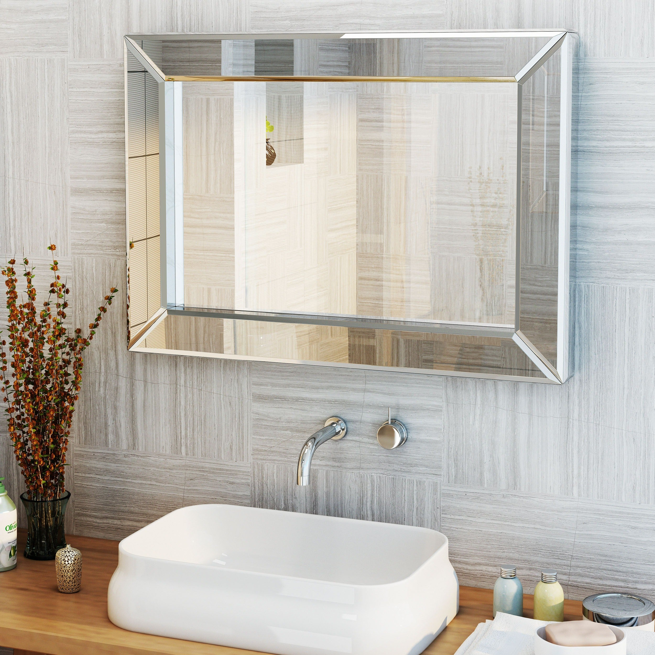 Shop Templin Rectangular Wall Mirror By Christopher Knight Home On