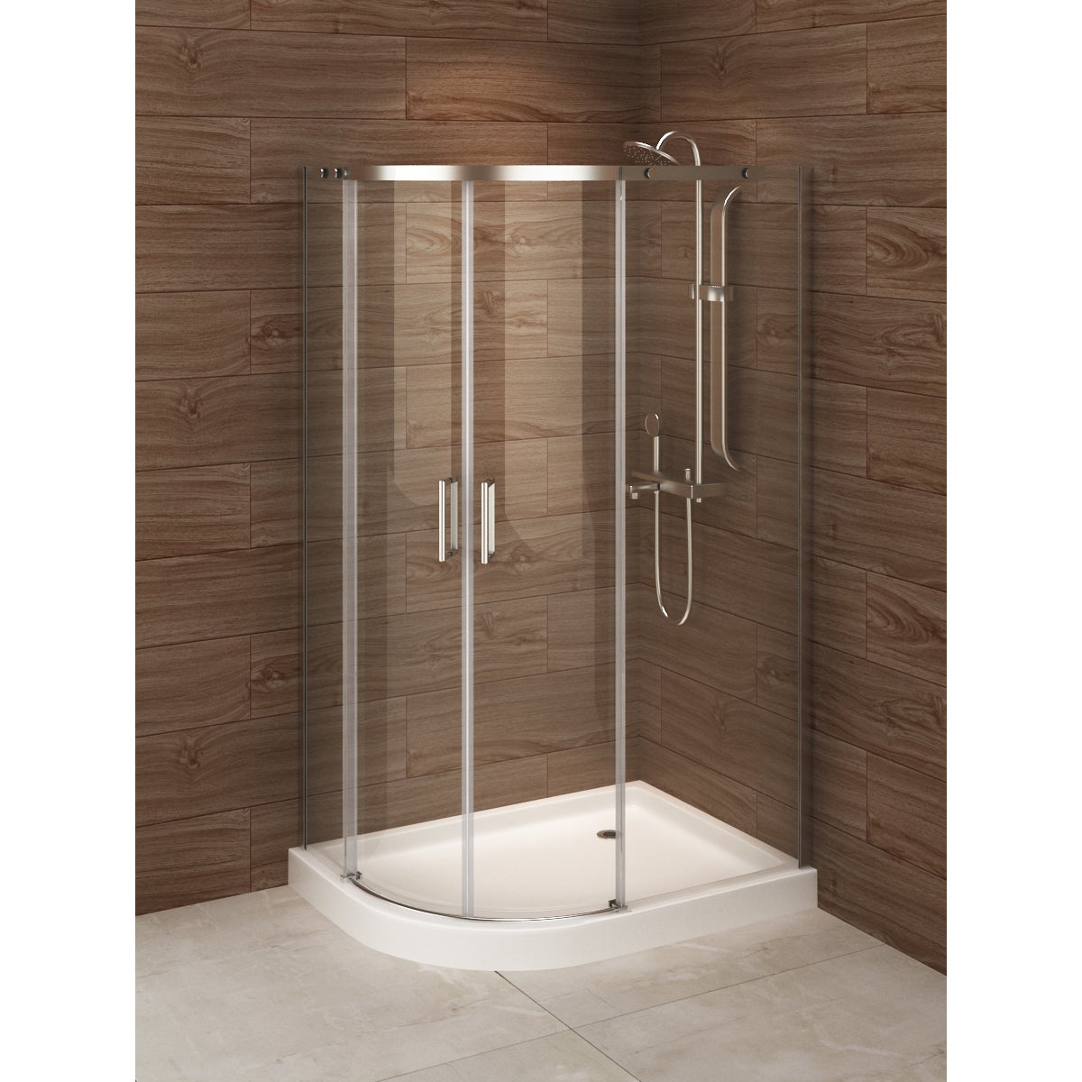 Shop Madrid 48-inch x 36-inch Left-opening Asymmetric Corner Shower ...