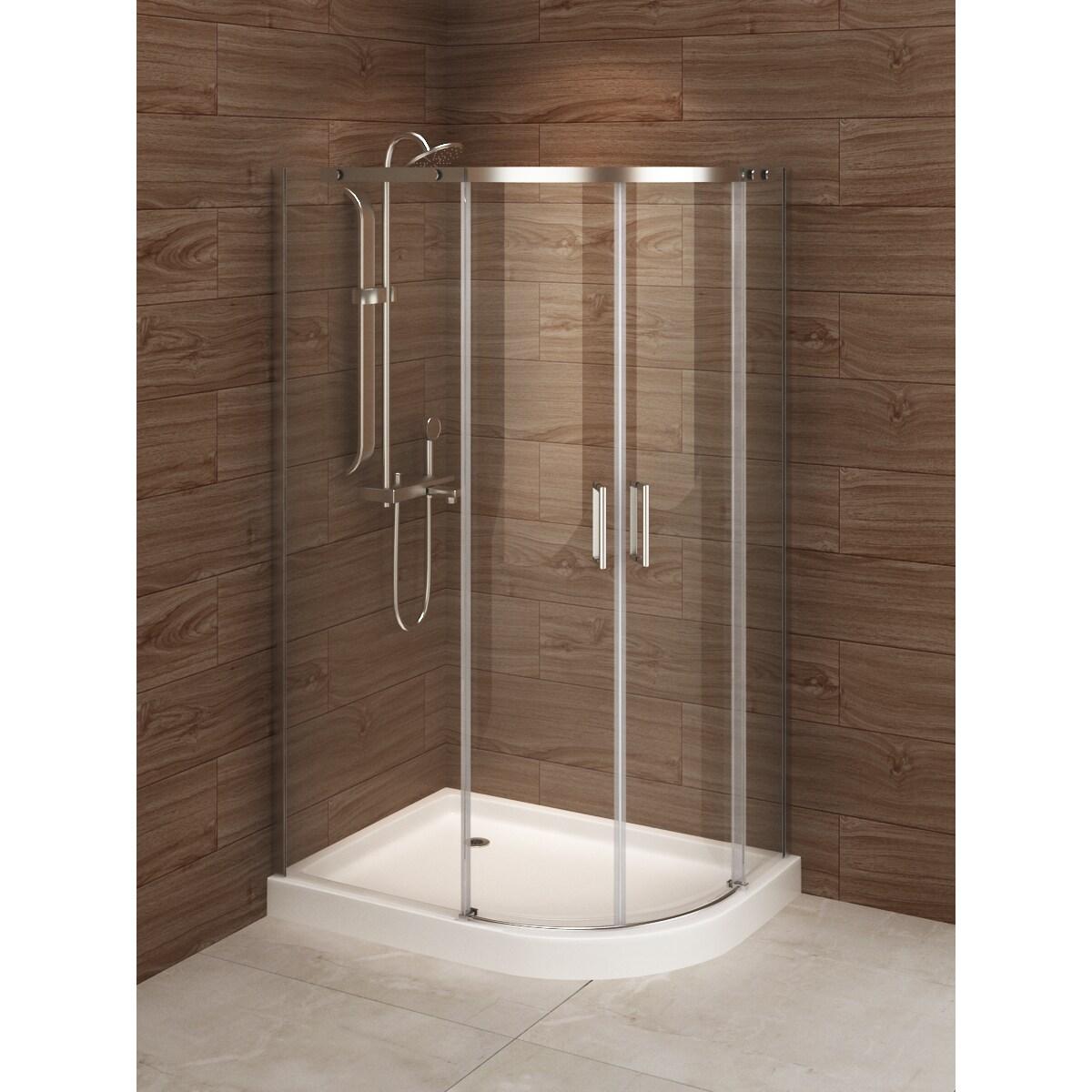 Shop Madrid 48-inch x 36-inch Asymmetric Right-opening Corner Shower ...