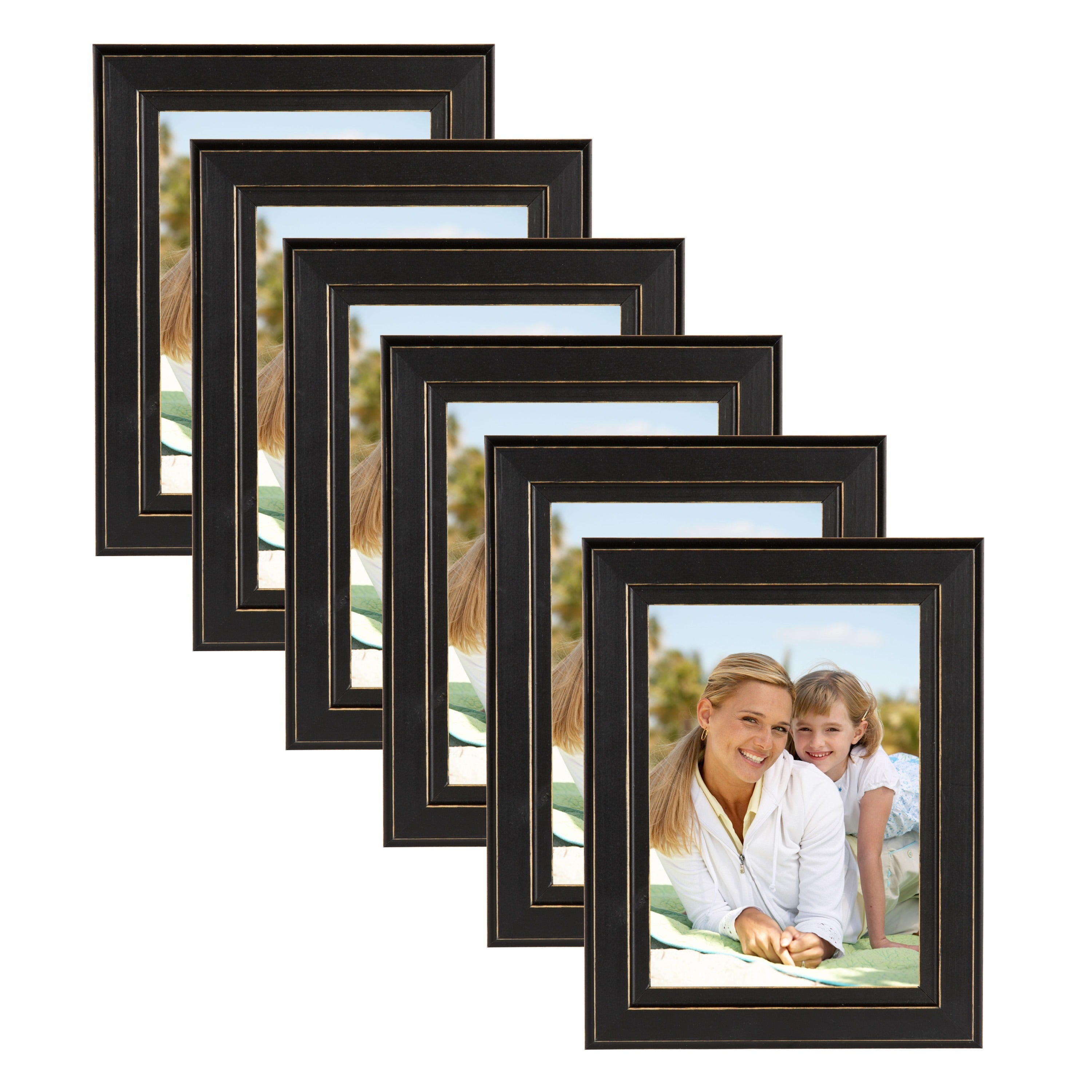 Wood picture frame set choice image craft decoration ideas casual distressed black wood picture frame set of 6 free casual distressed black wood picture frame jeuxipadfo Gallery