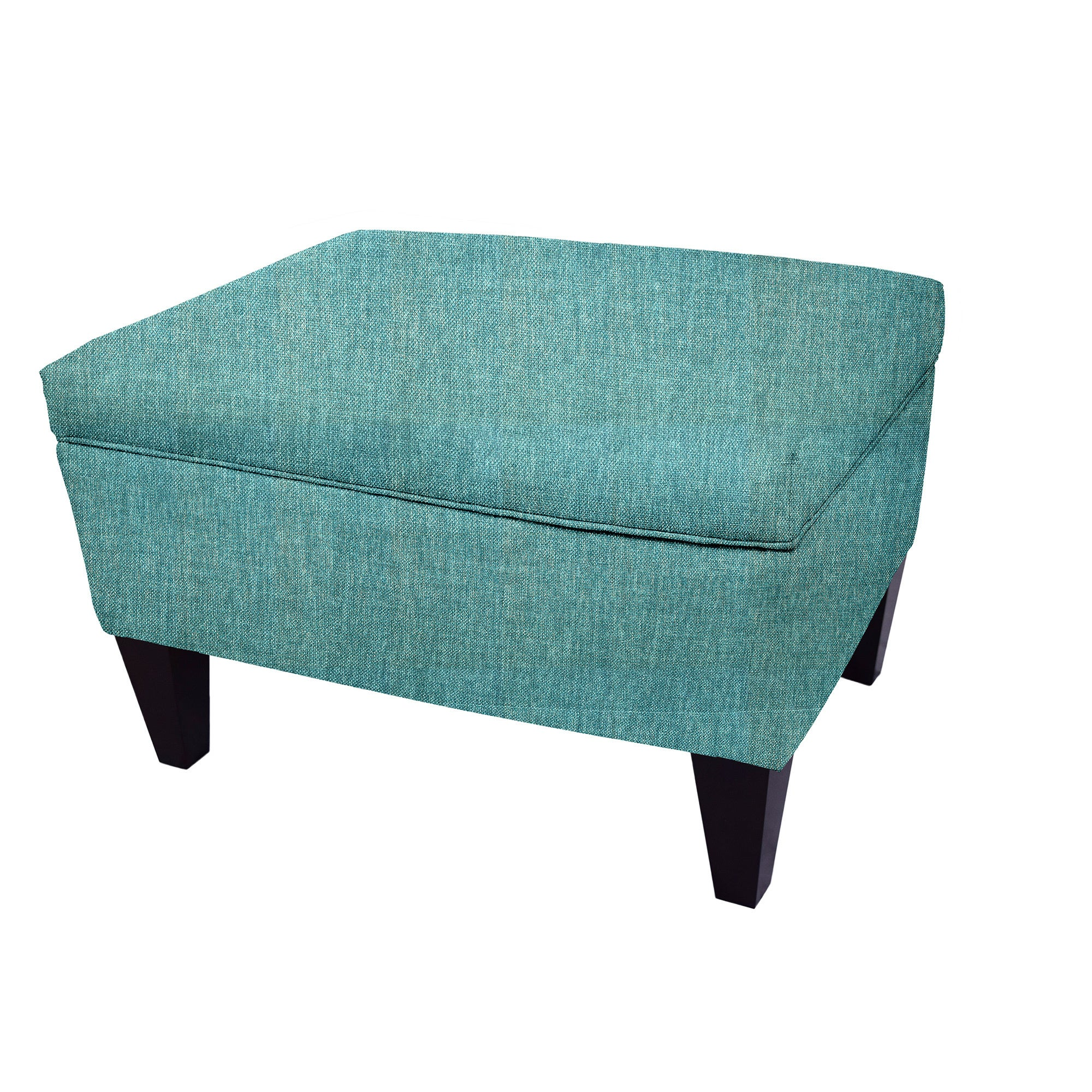 MJL Furniture BROOKLYN Wood Polyester-upholstered Storage Ottoman ...