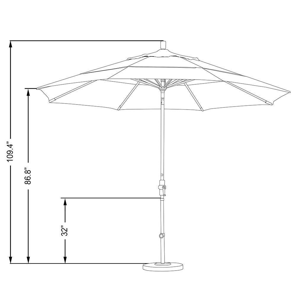 Shop California Umbrella 11 Rd Aluminum Market Umbrella Crank