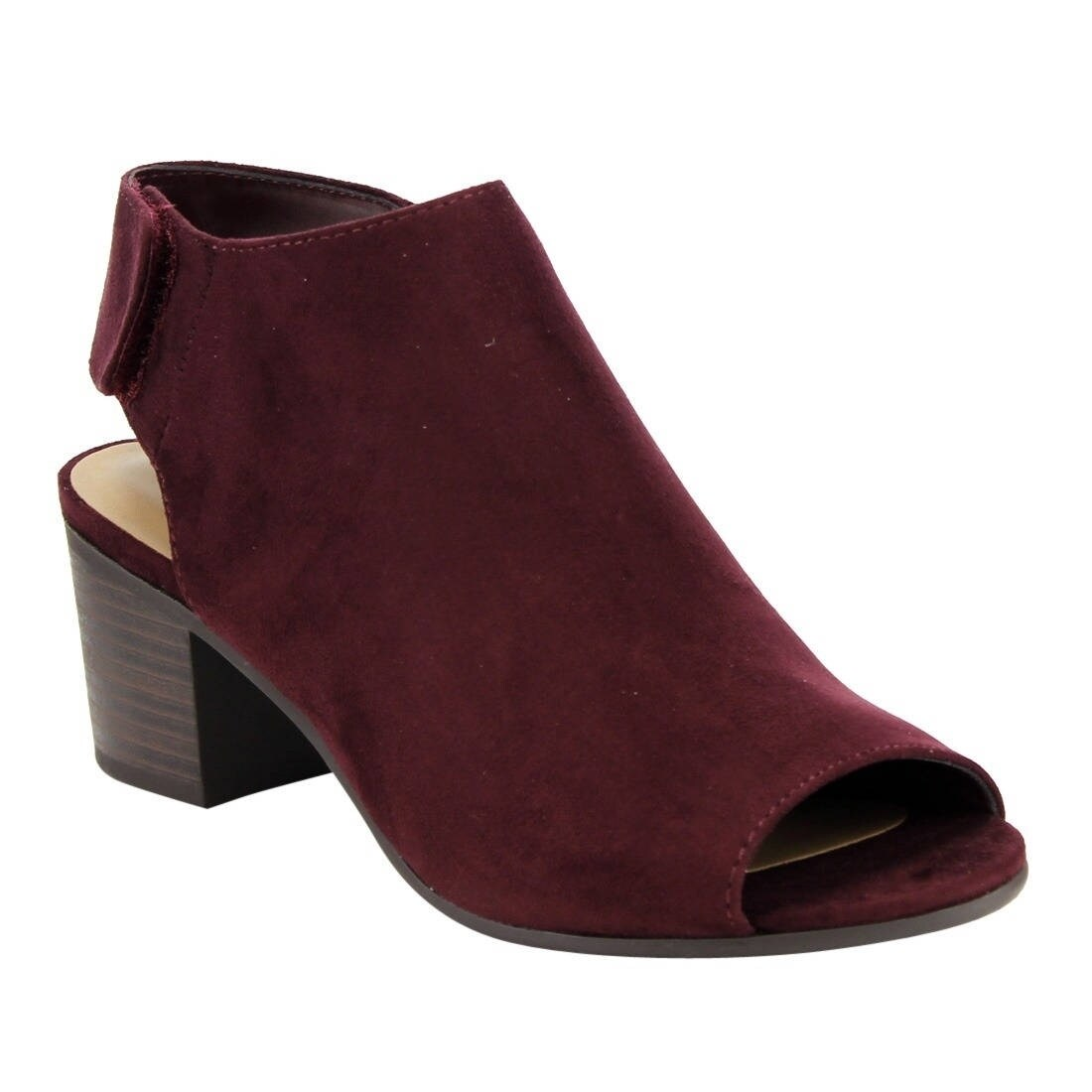 b5ab066c6decd City Classified IB69 Women's Stacked Block Heel Cutout Ankle Strap Bootie