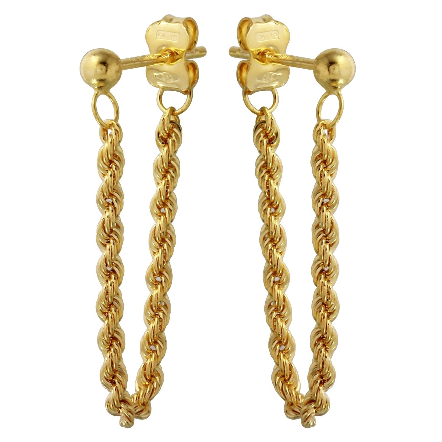 earrings yellow overstock free leverback jewelry today love bfaa italian knot miadora shipping product gold watches