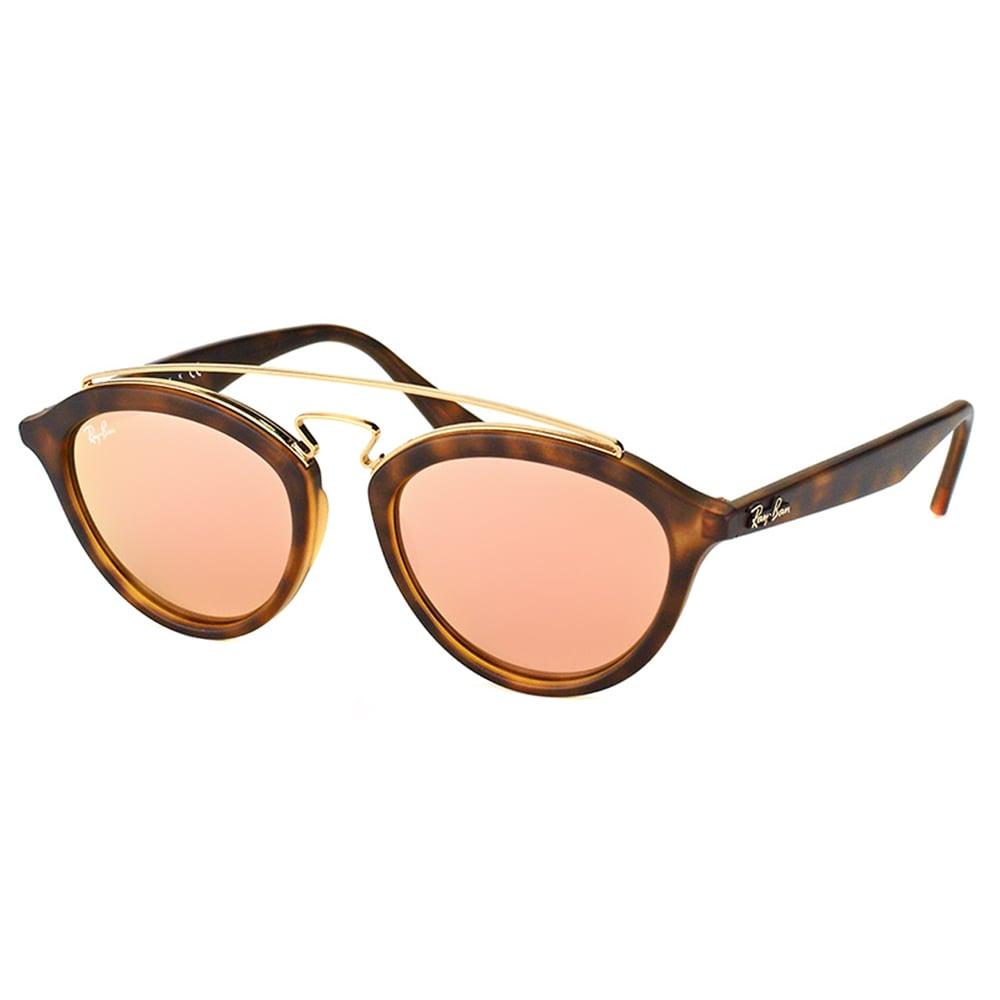 04af315fd3c Ray-Ban RB 4257 60922Y Gatsby II Matte Havana Plastic Fashion Sunglasses  with Pink Mirror Lens