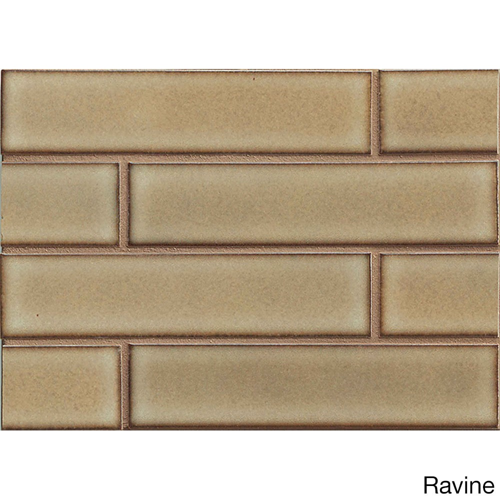 Bedrosians Staggered-joint Mosaic Moss Porcelain Tile (Box of 10 ...