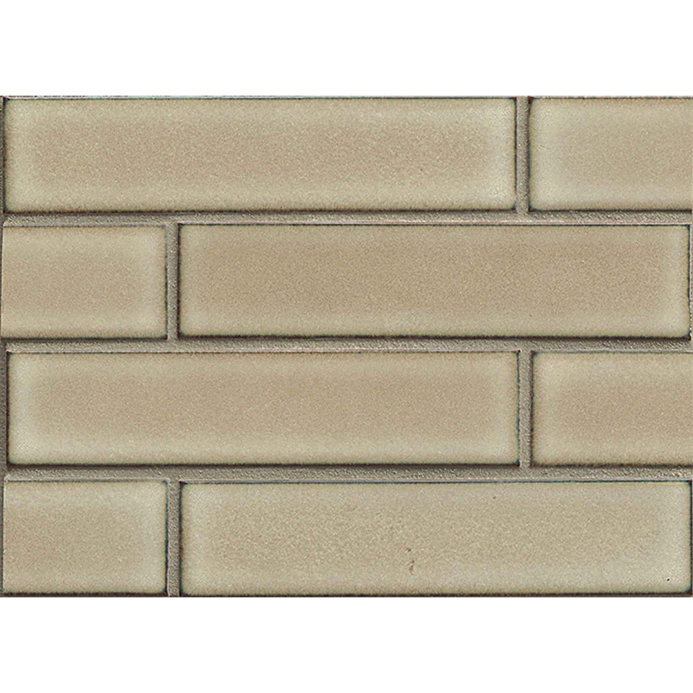Shop Bedrosians Staggered-joint Mosaic Moss Porcelain Tile (Box of ...