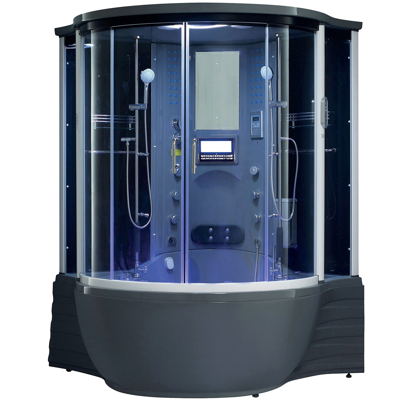 Shop Florence Acrylic/Glass/Stainless Steel Steam Shower Sauna with ...