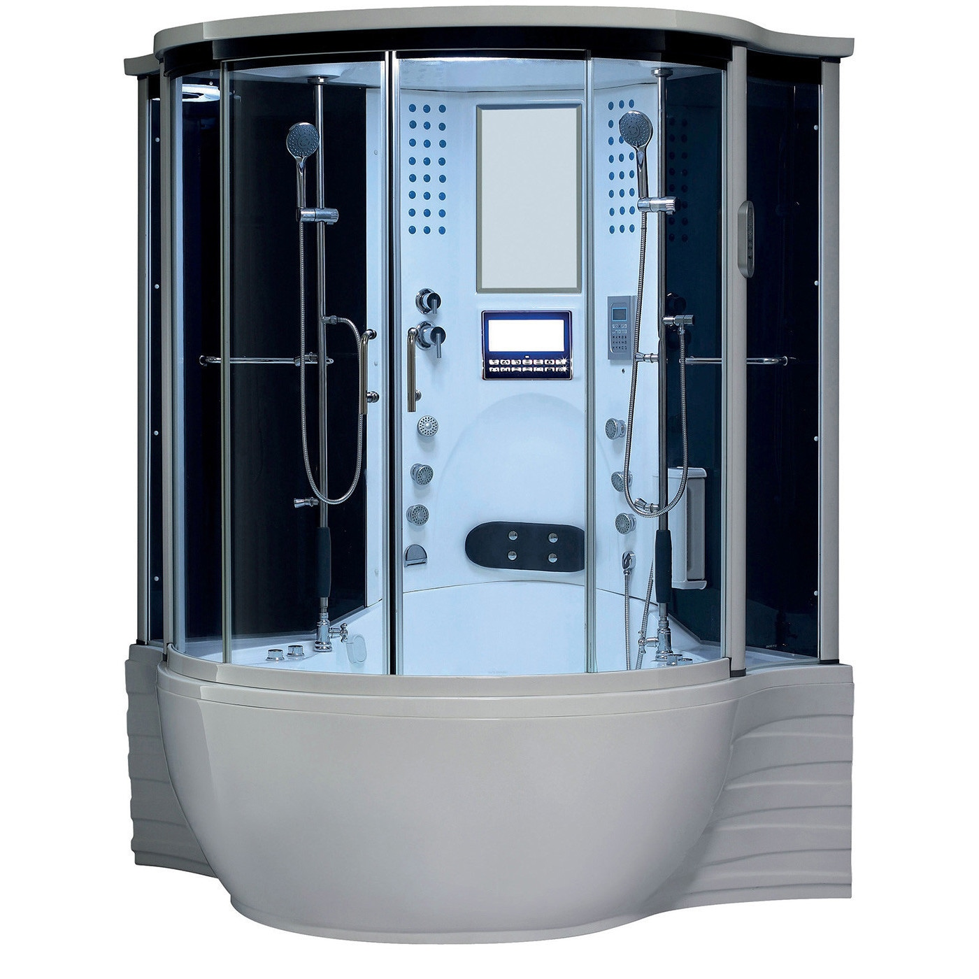 Florence Acrylic/Glass/Stainless Steel Steam Shower Sauna with ...