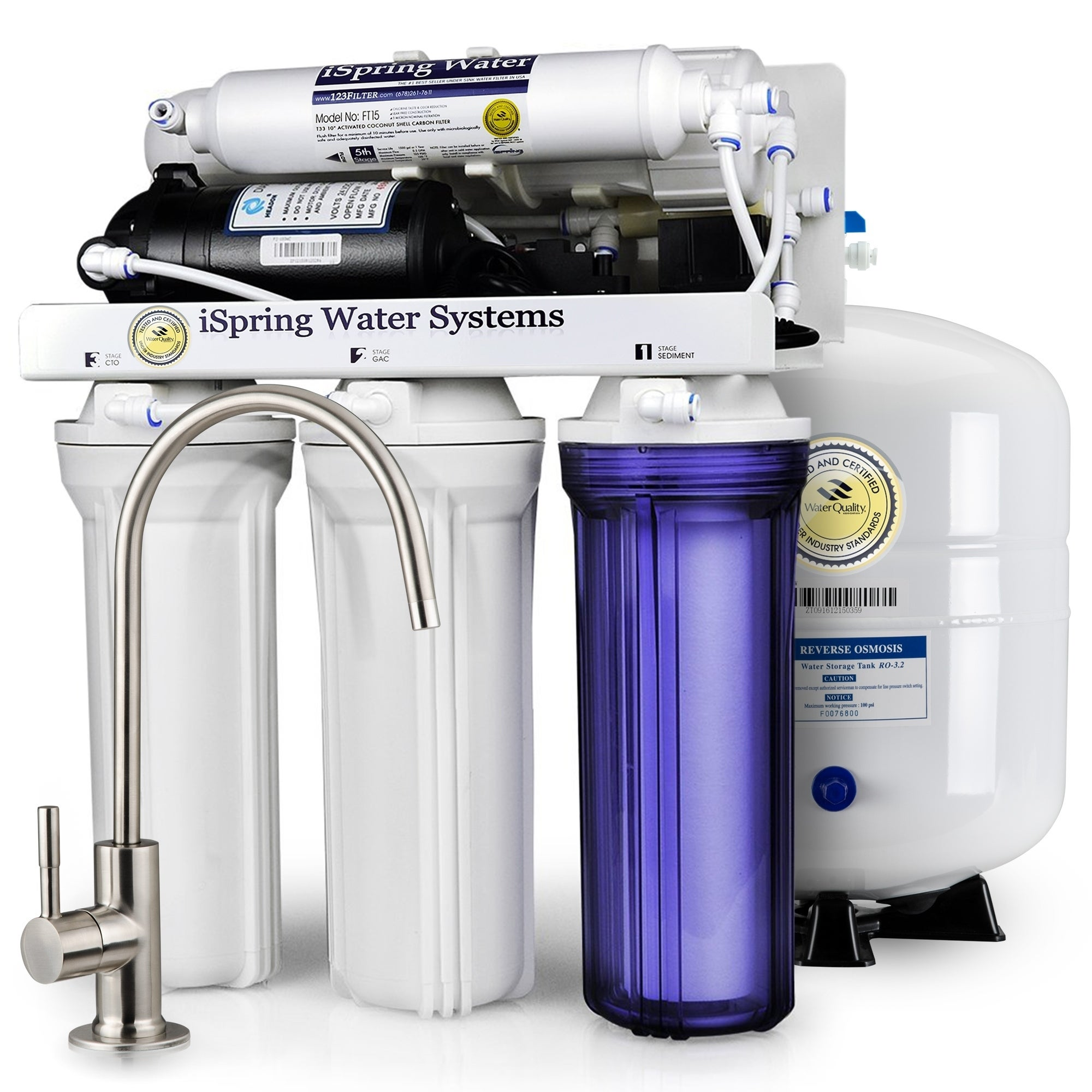 shop ispring rcc7p high capacity, performance-boosted under sink 5