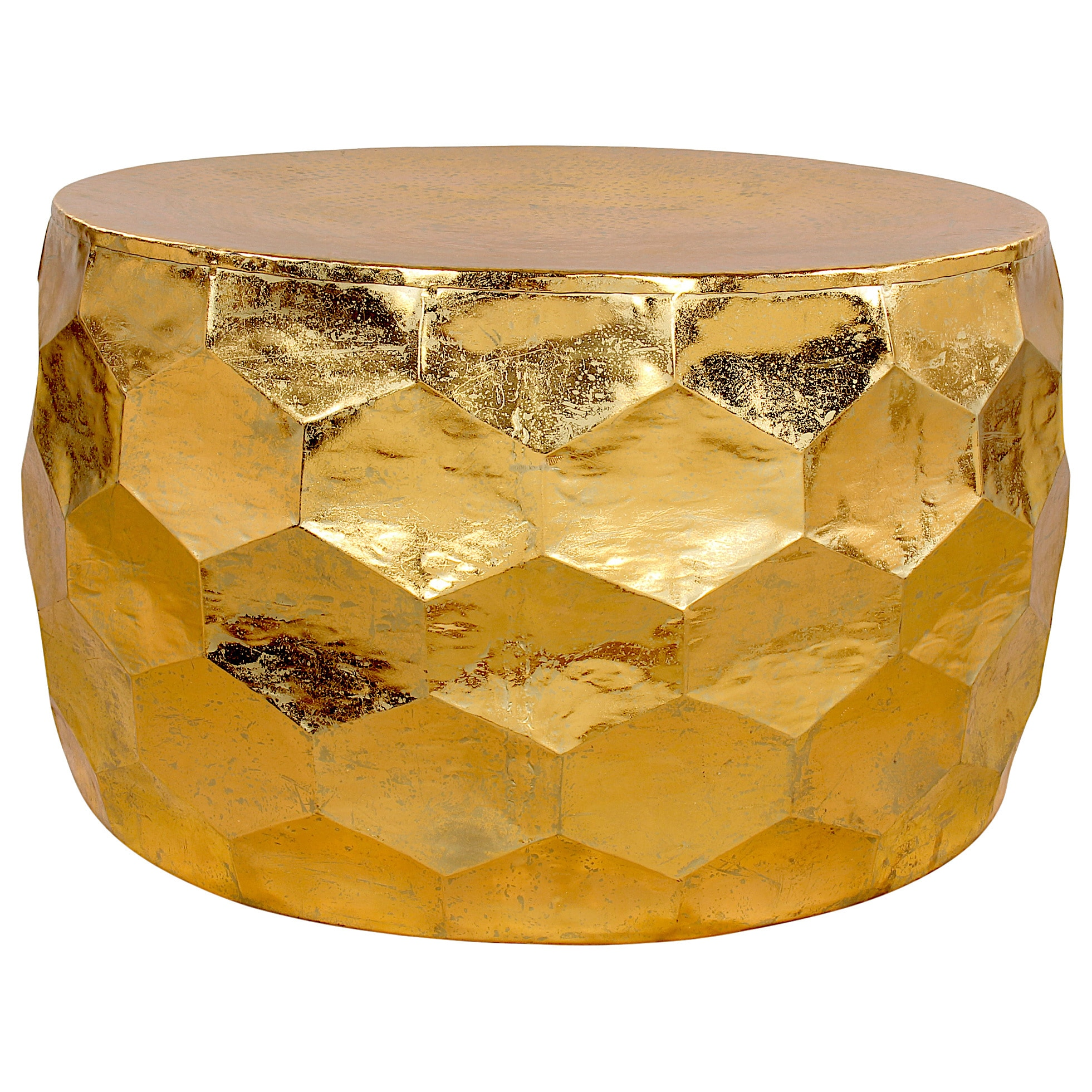 Gemoratic Hammered Gold Leaf Metal Coffee Table Free Shipping Today 11984115