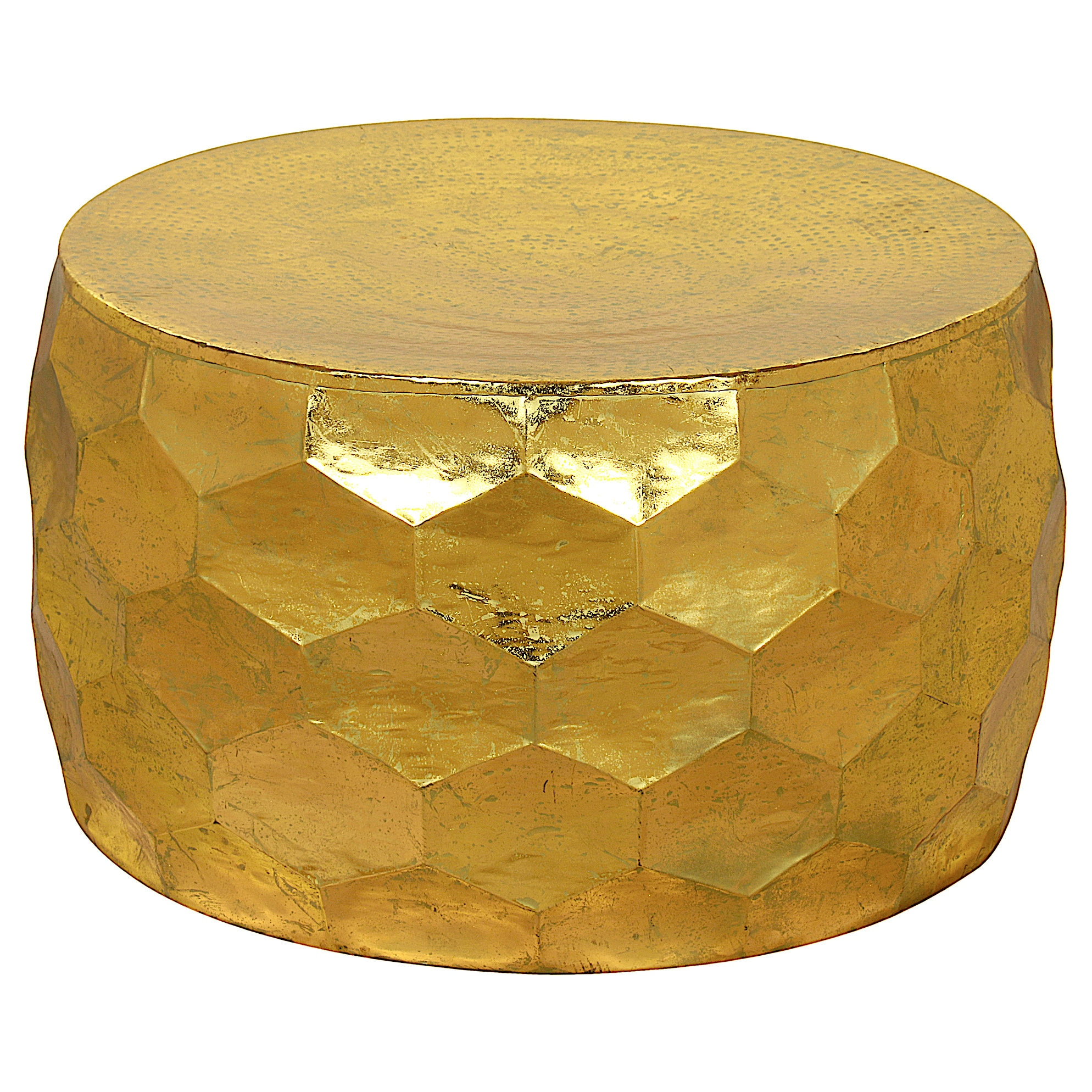 Gemoratic Hammered Gold Leaf Metal Coffee Table Free Shipping