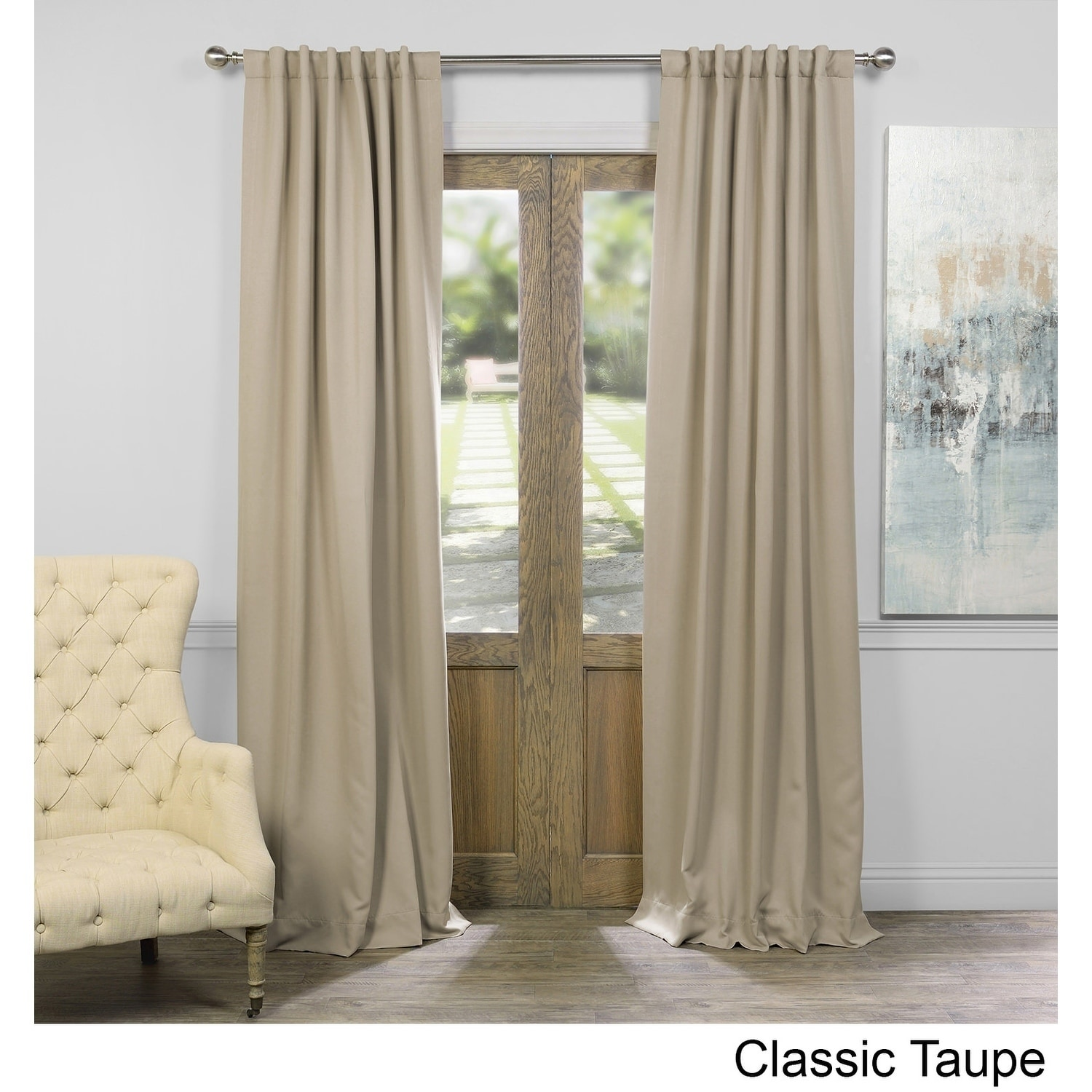 Exclusive Fabrics Thermal Insulated Solid Blackout 108 Inch Curtain Panel Pair 50 X On Free Shipping Today 11984311