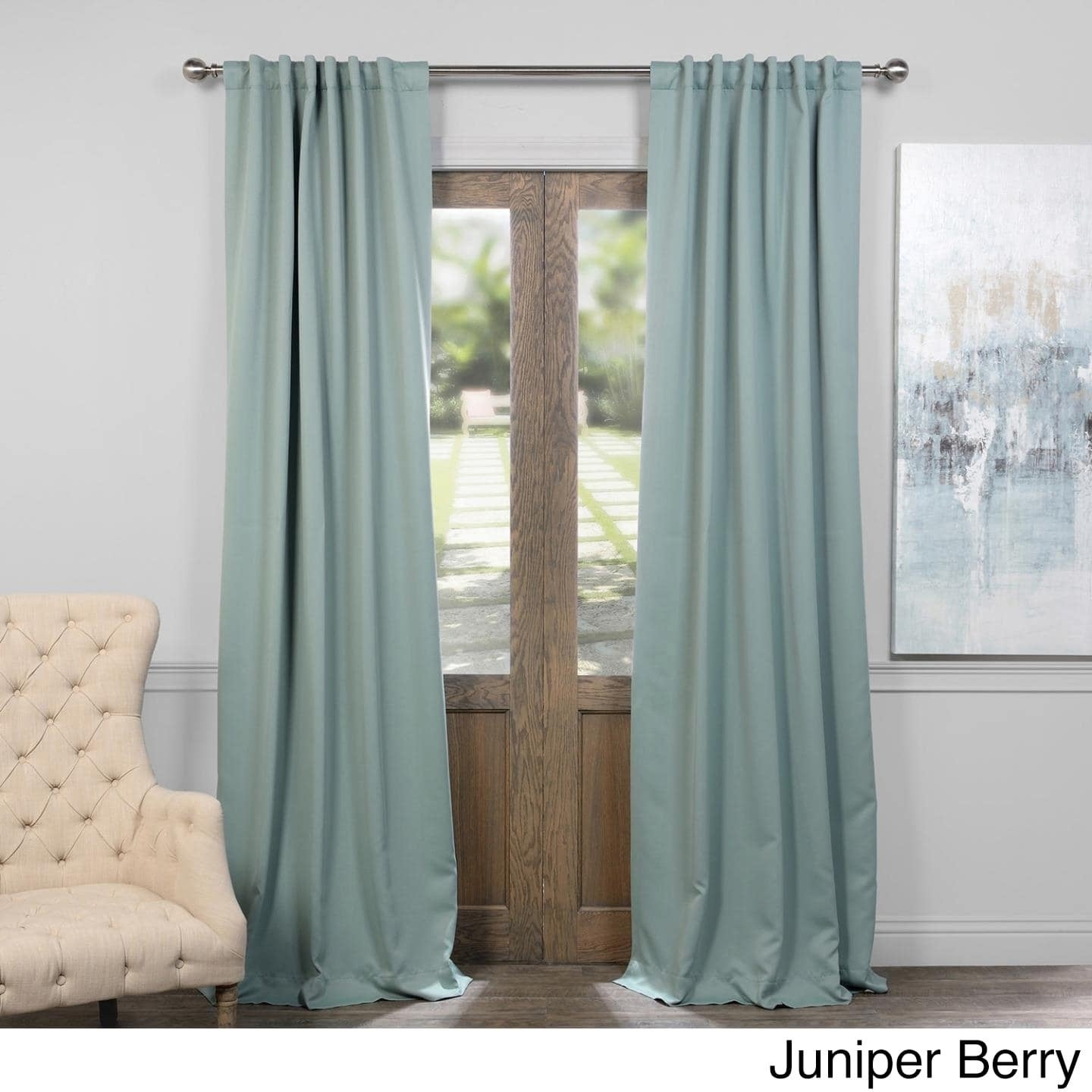 Shop Exclusive Fabrics Thermal-insulated Solid Blackout 96-inch ...