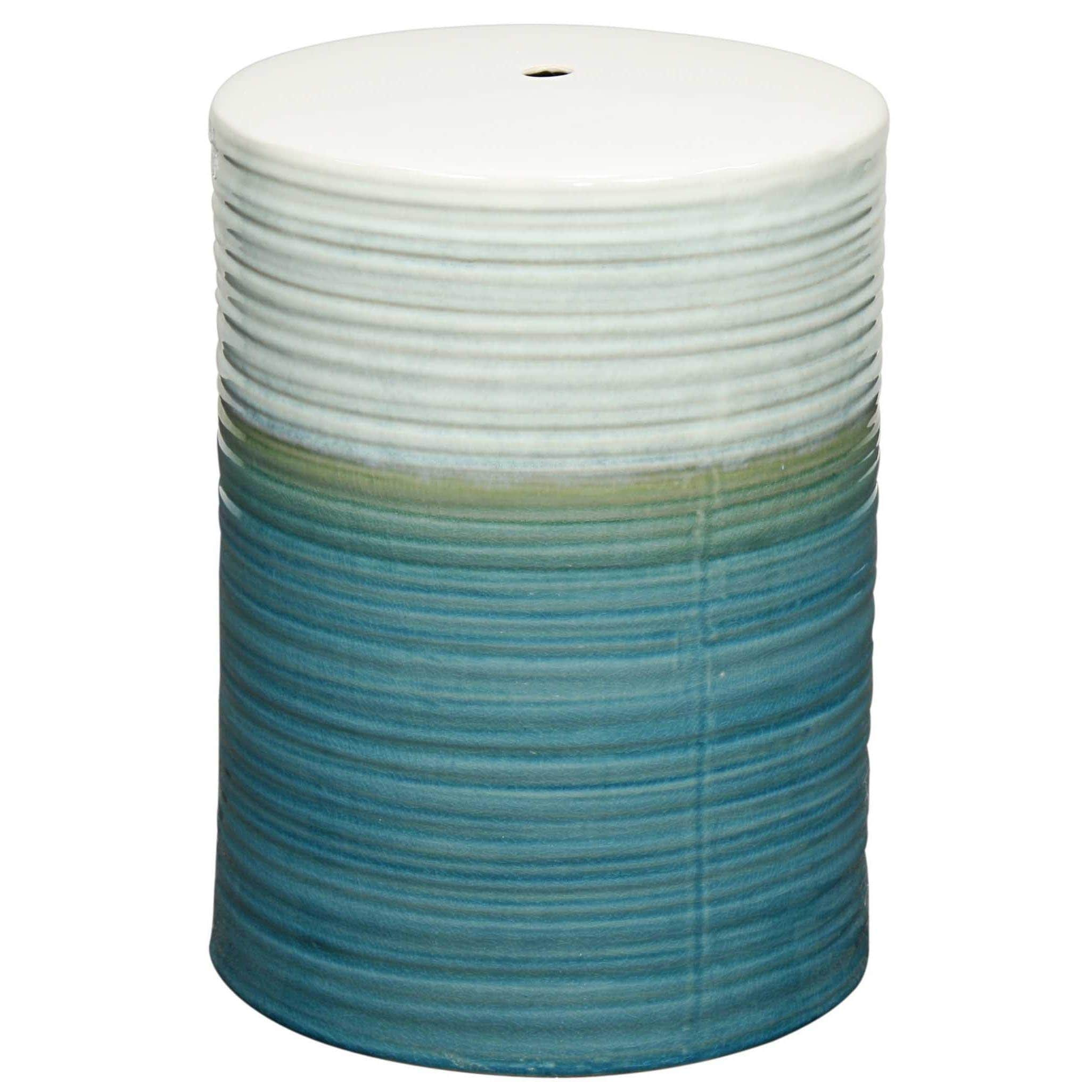 Multicolor Swirl Ceramic Garden Stool  Free Shipping Today