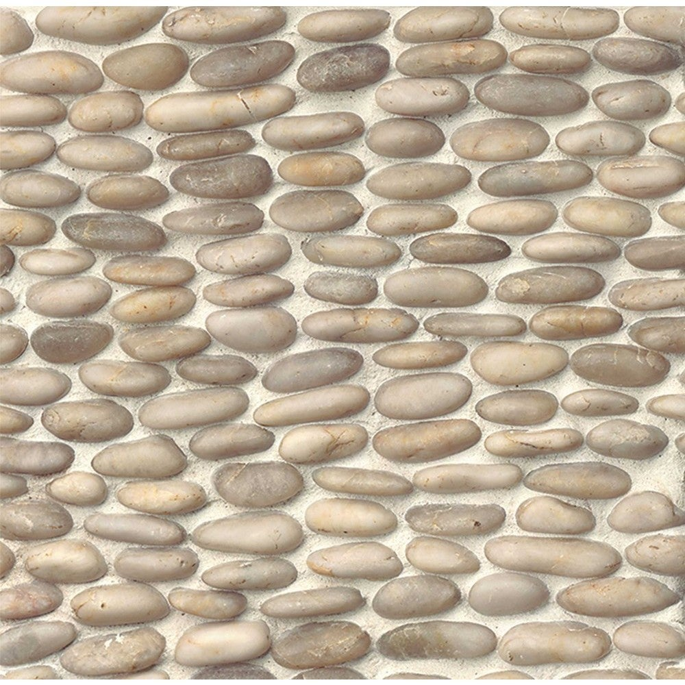 Bedrosians Stacked Pebble 12 Inch X Stone Tile Box Of 6 Free Shipping Today 11987468