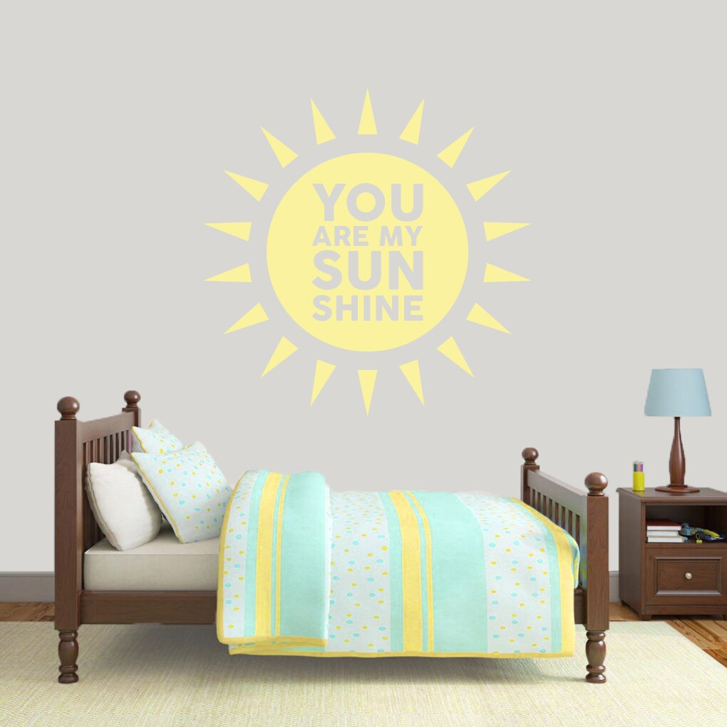 Shop You Are My Sunshine\' 48 x 48-inch Vinyl Wall Decal - On Sale ...