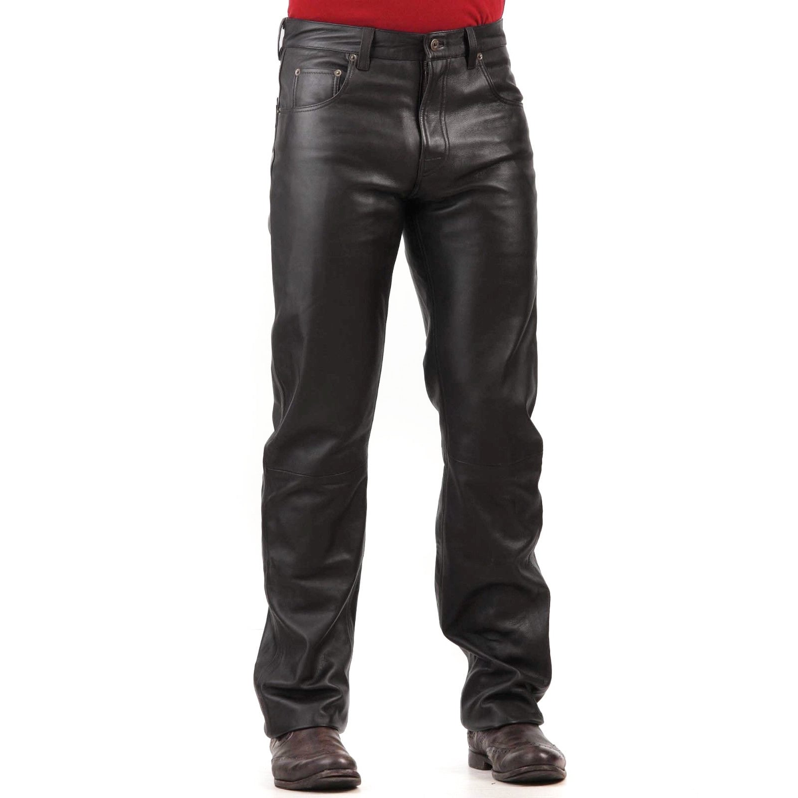 – Mens Pants Black Leather Dacc Dress 5qRL34AjSc
