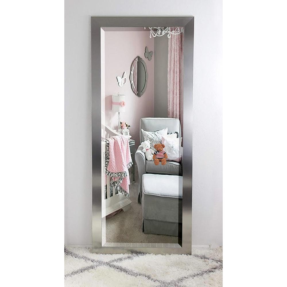 silver floor mirror. American Made Rayne Oversized Silver Floor/Vanity Mirror - Free Shipping Today Overstock 18871191 Floor R