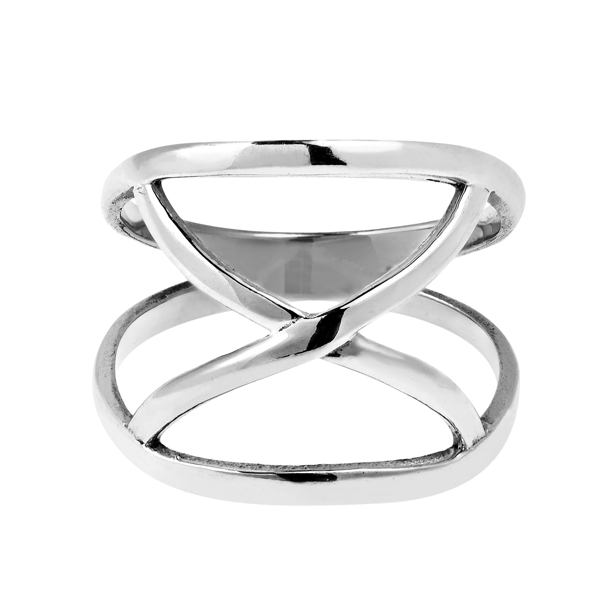 infinite over thailand sterling band jewelry shipping open loop handmade ring watches orbit free overstock product orders on modern x silver rings