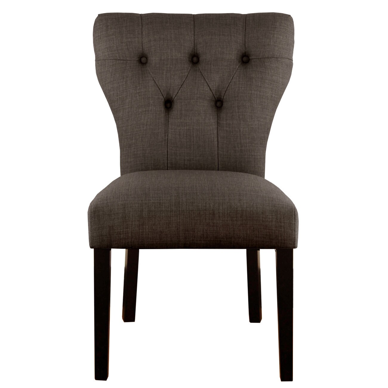 Shop skyline furniture marlow asphalt espresso polyester rubberwood tufted hourglass dining chair free shipping today overstock com 11992919