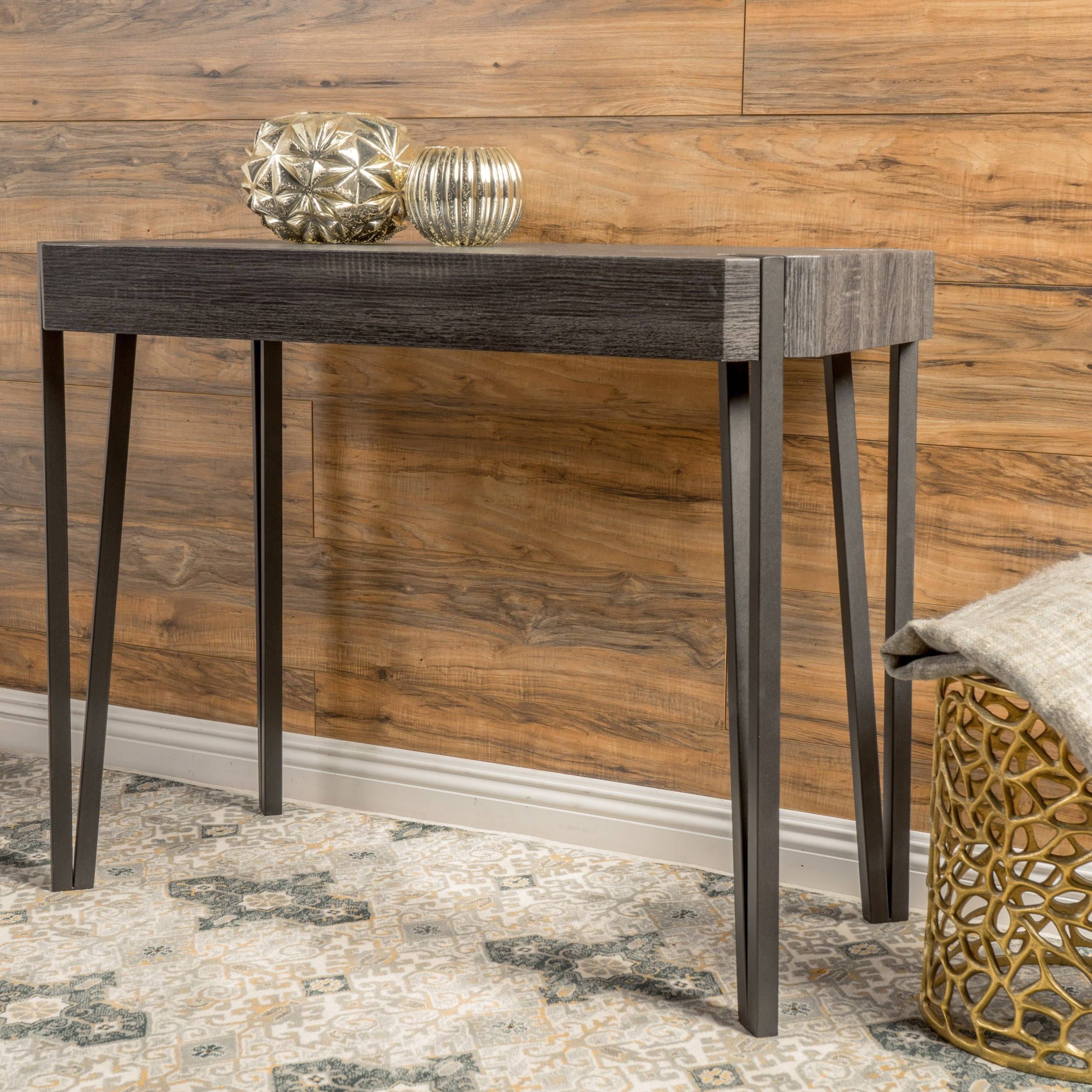 Colville Rustic Wood Console Table By Christopher Knight Home On Free Shipping Today 11993057