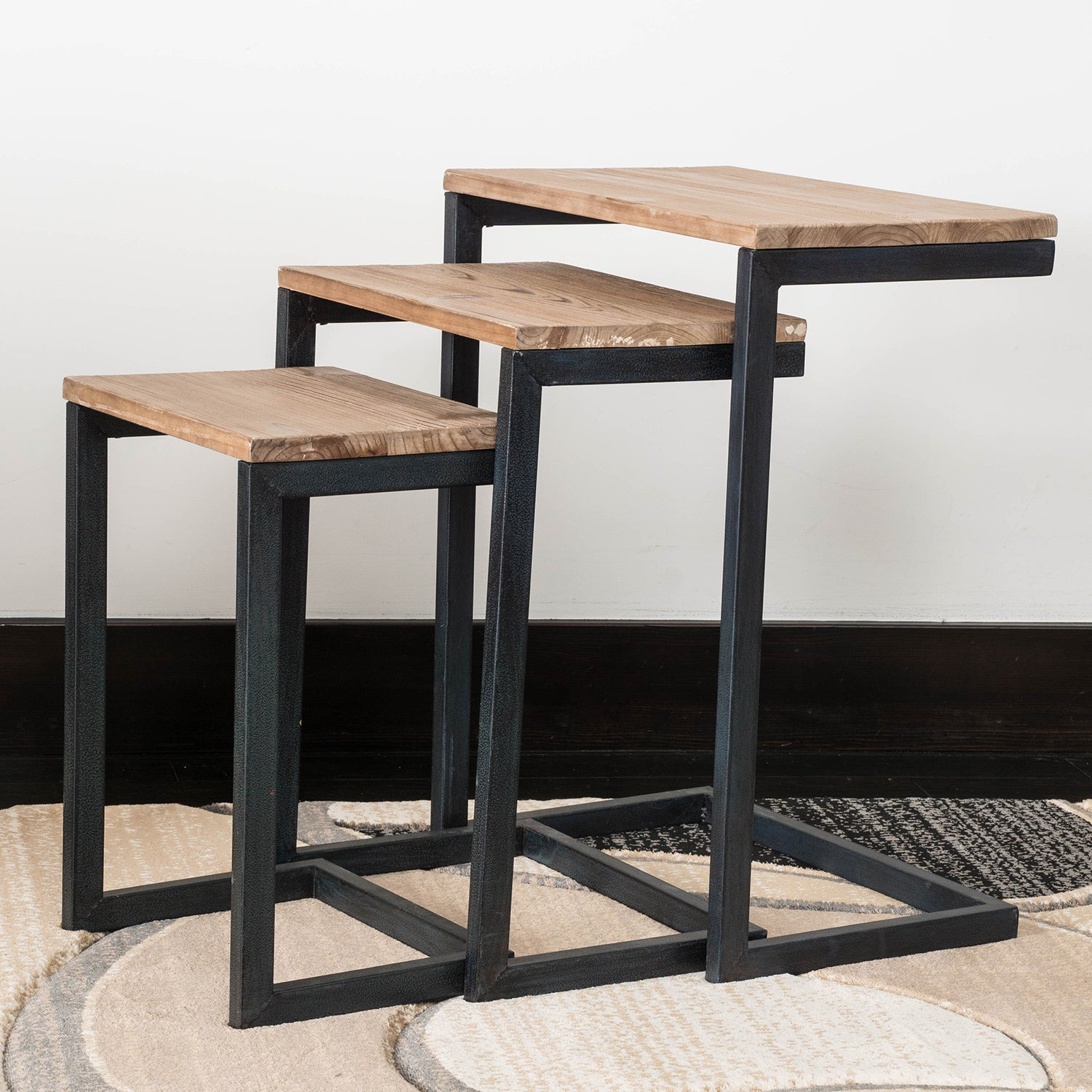 Tohono Firwood 3-piece Nesting Table Set by Christopher Knight Home - Free Shipping Today - Overstock - 18873351 & Tohono Firwood 3-piece Nesting Table Set by Christopher Knight Home ...