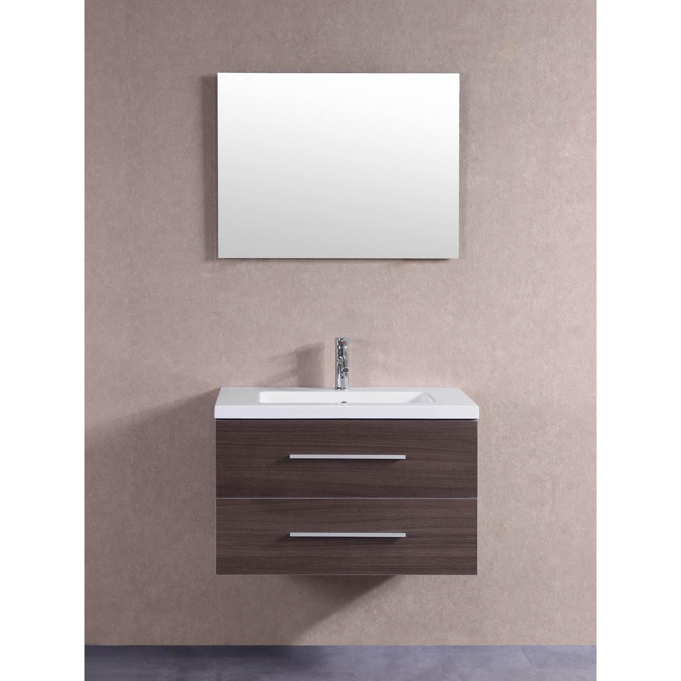 Shop 32 inch floating single sink bathroom vanity set free shipping today overstock com 11996085