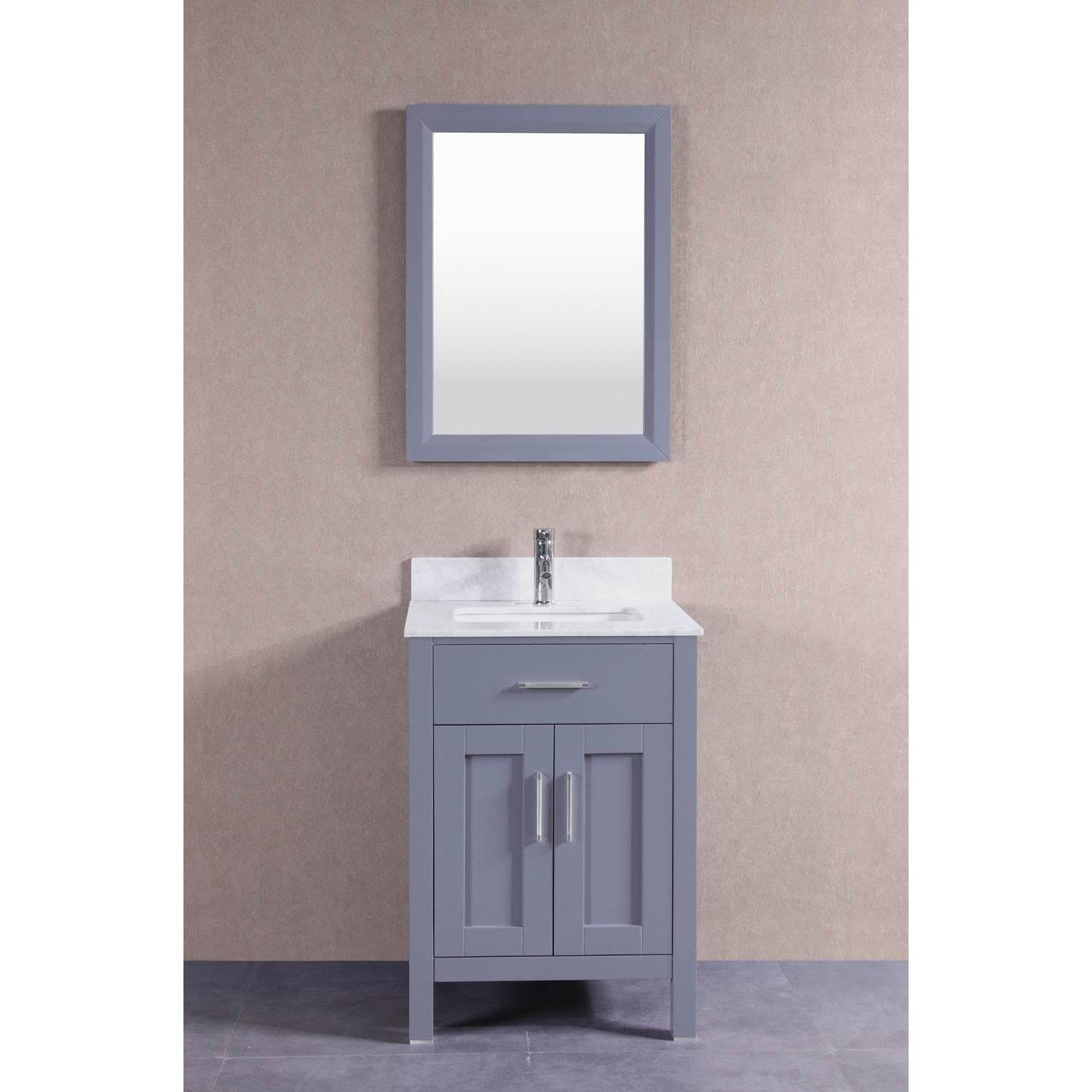 Belvedere Oak 24 Inch Bathroom Vanity Set With Marble Top On Free Shipping Today 11996087