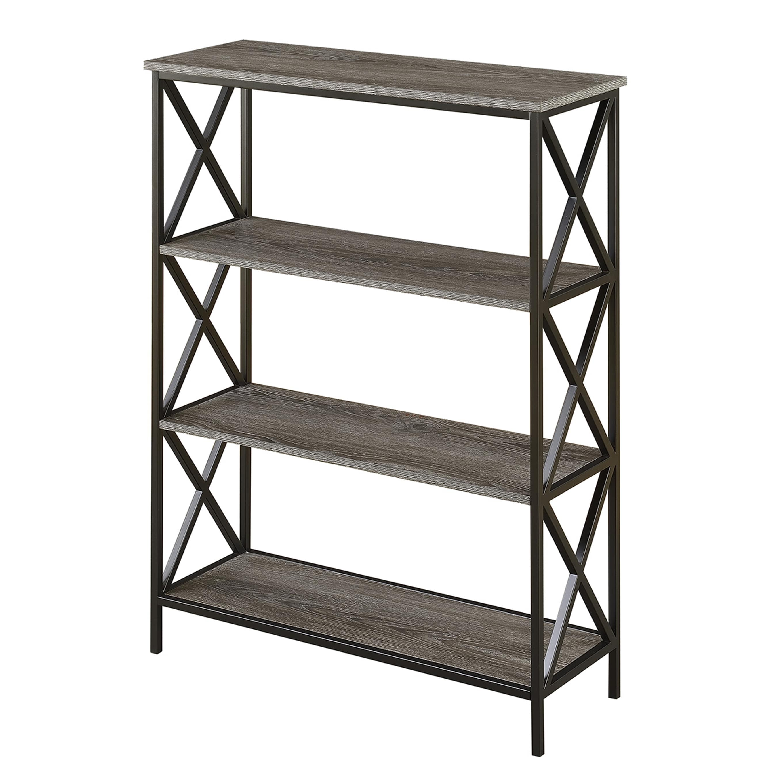 narrow grey of floor captivating maple stained with tiered and top wood wooden shelves plus idea industrial wide on bookcase metal bookcases