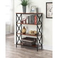 Convenience Concepts Tucson Metal/Wood 4-tier Bookcase