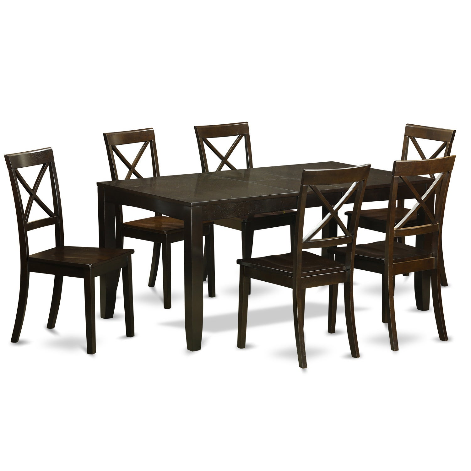 Shop LYBO7-CAP 7-piece Kitchen Dining Table Set - Free Shipping ...