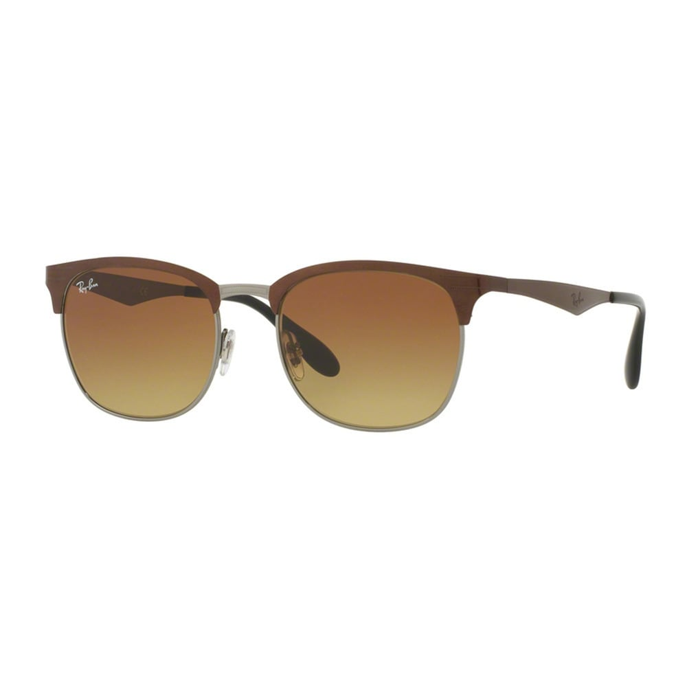 42214c6d92d0c Shop Ray-Ban Men s RB3538 188 13 Brown Metal Square Sunglasses - Free  Shipping Today - Overstock - 11998945