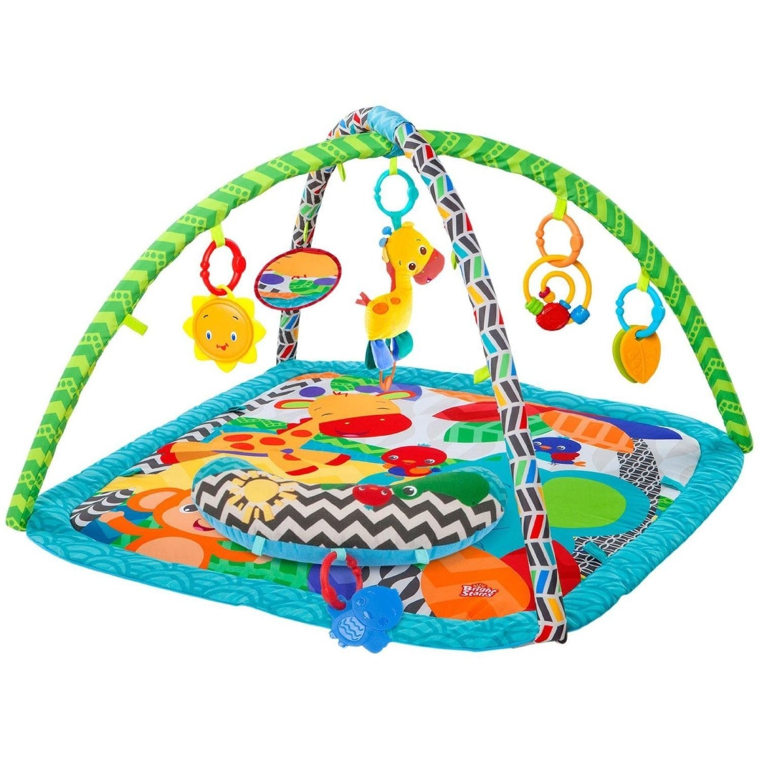 77d48c10f Shop Bright Starts Silly Safari Polyester Baby Activity Gym - Free ...