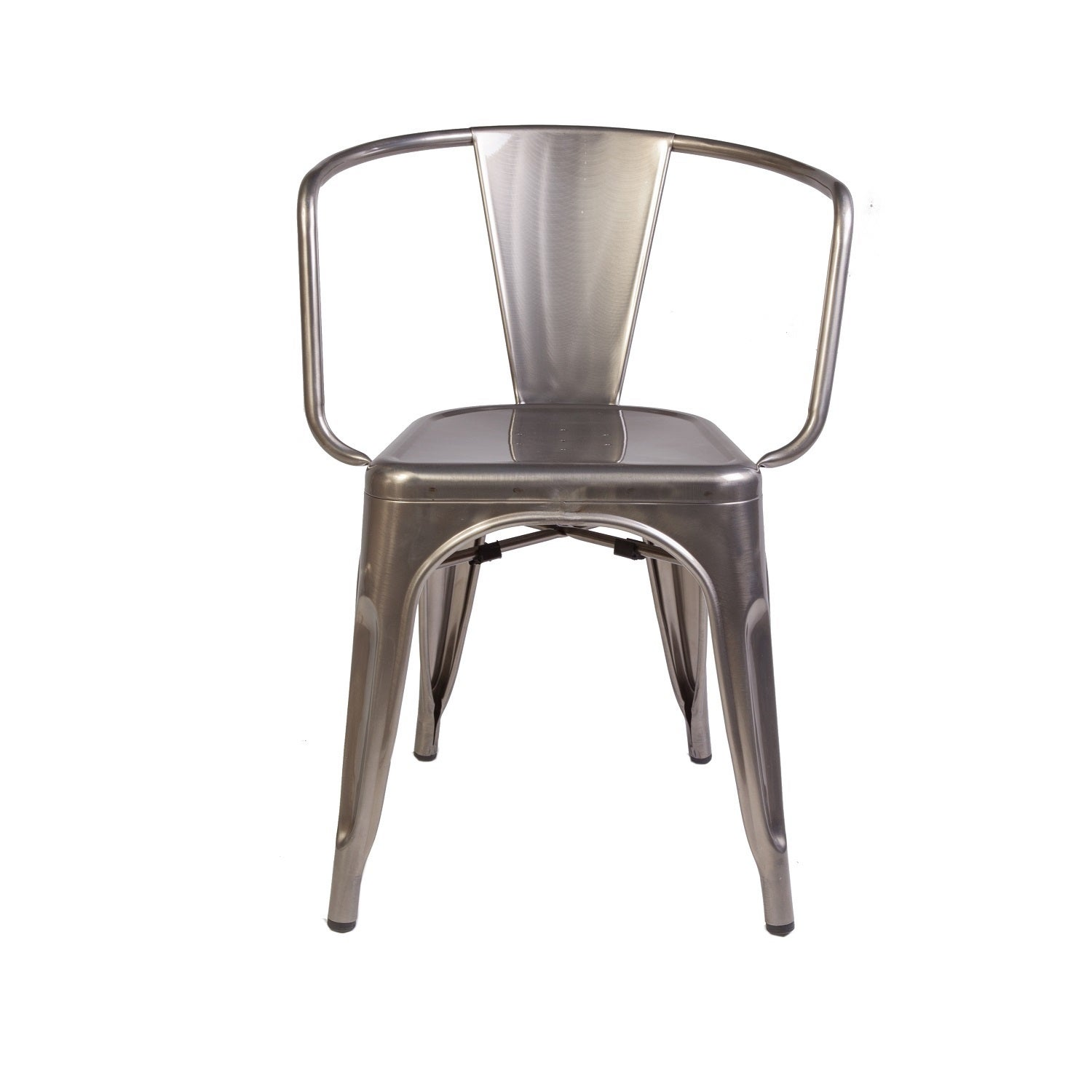 Shop hans andersen home geraldton grey steel arm chair free shipping today overstock 12003354
