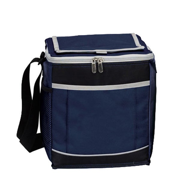 99727913839a Goodhope 12-can Polyester Mesh Pocket Insulated Cooler Bag