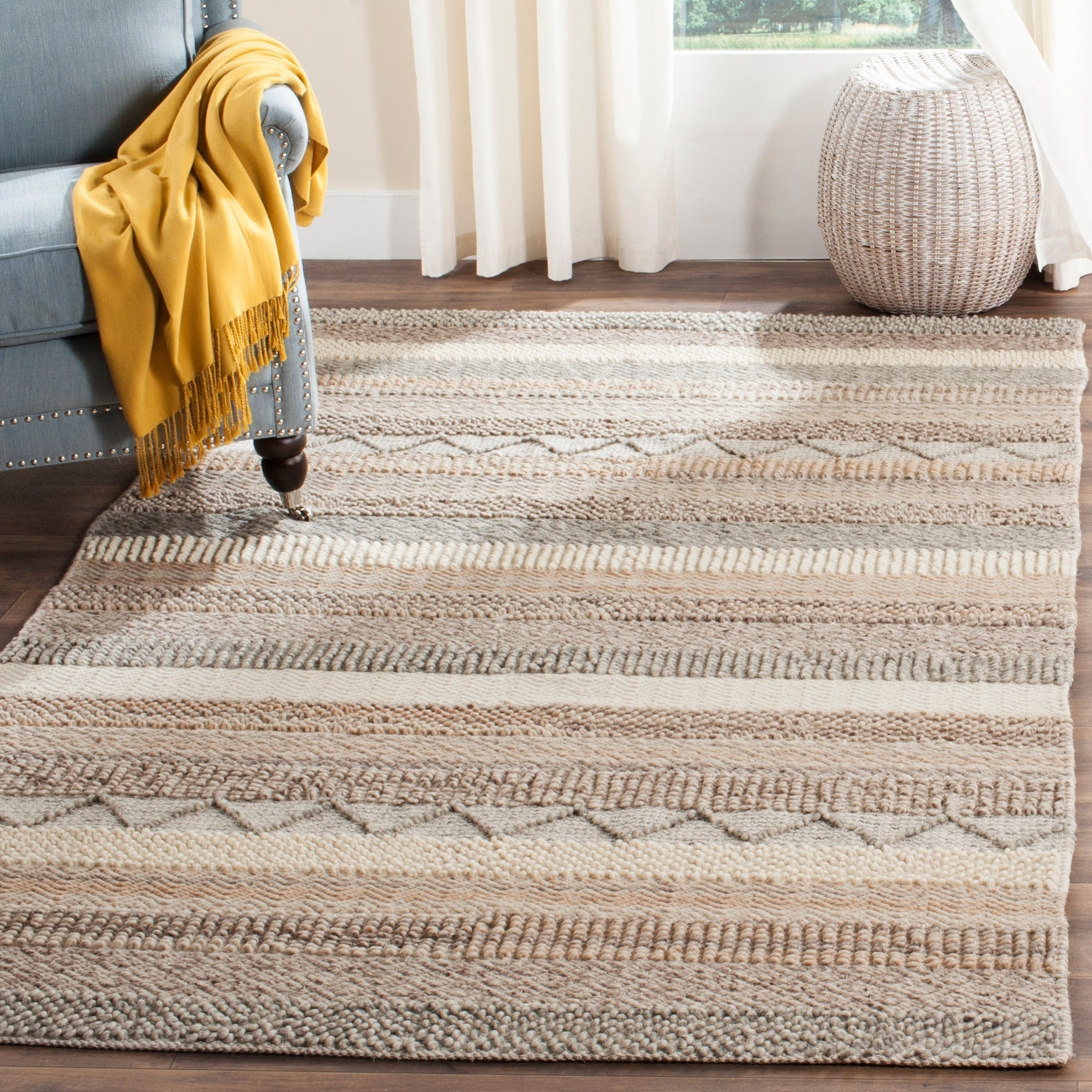 Shop Safavieh Handmade Natura Beige Wool Rug 8 X 10 On Sale