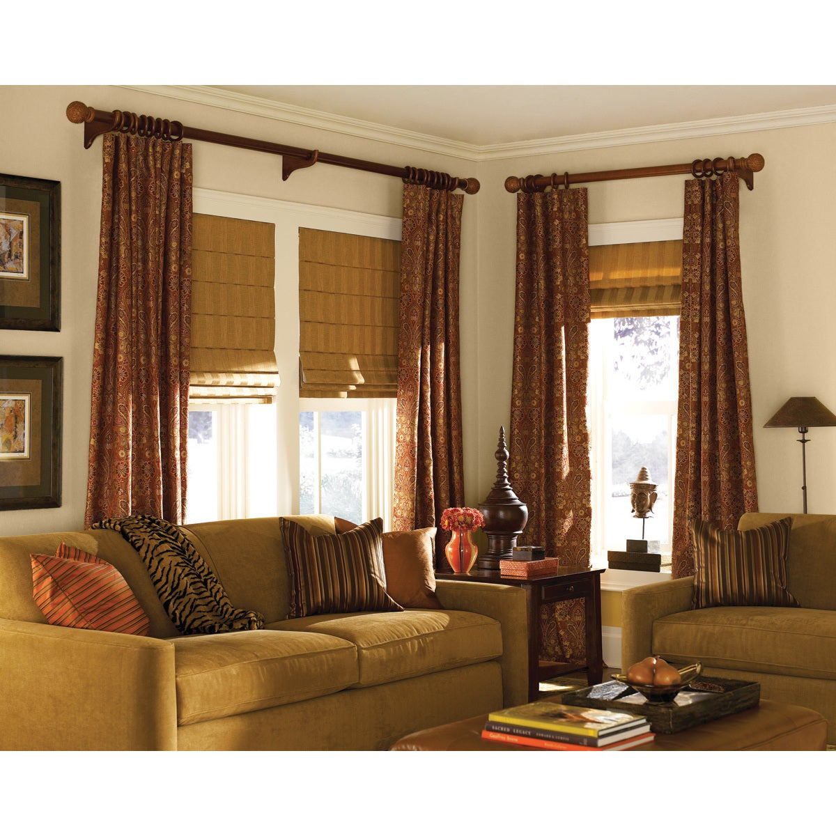 Ashton Wine Stripe Roman Shade 24 To 5 Inch Wide Free Shipping Today 12004463