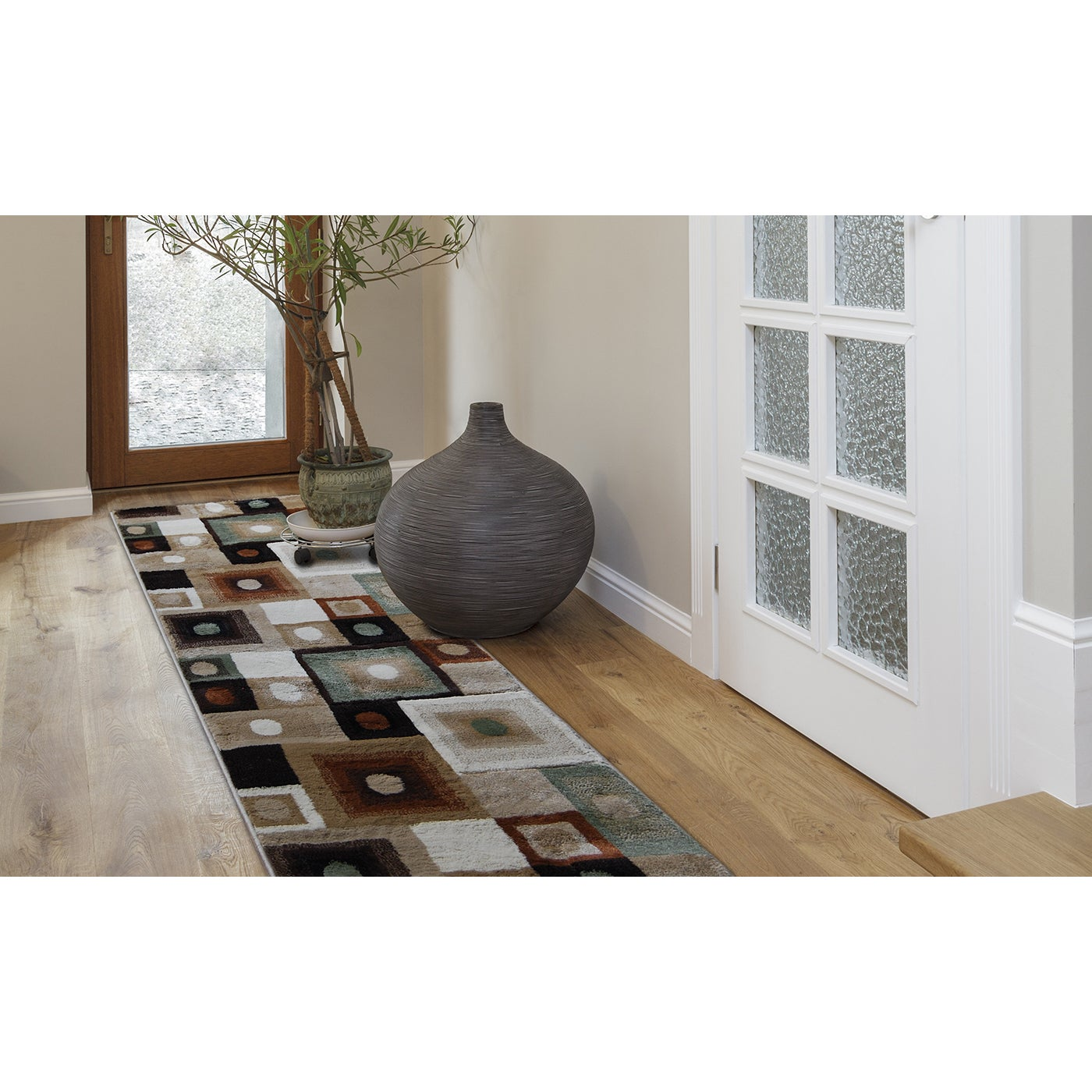Home Dynamix Tribeca Collection Contemporary Area Rug Runner 110