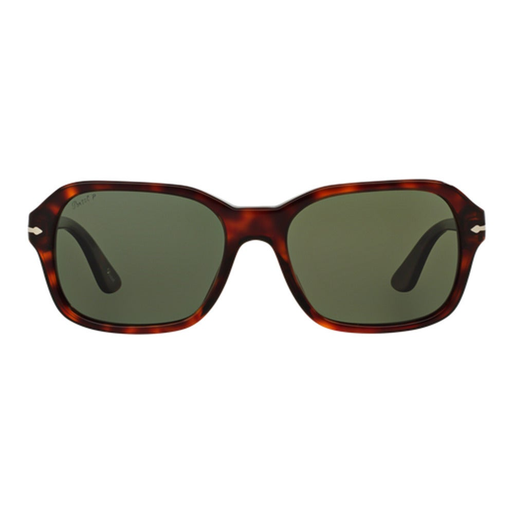 ef6797bdad Shop Persol Men s PO3136S 24 58 Havana Plastic Square Polarized Sunglasses  - Tortoise - Free Shipping Today - Overstock.com - 12005070