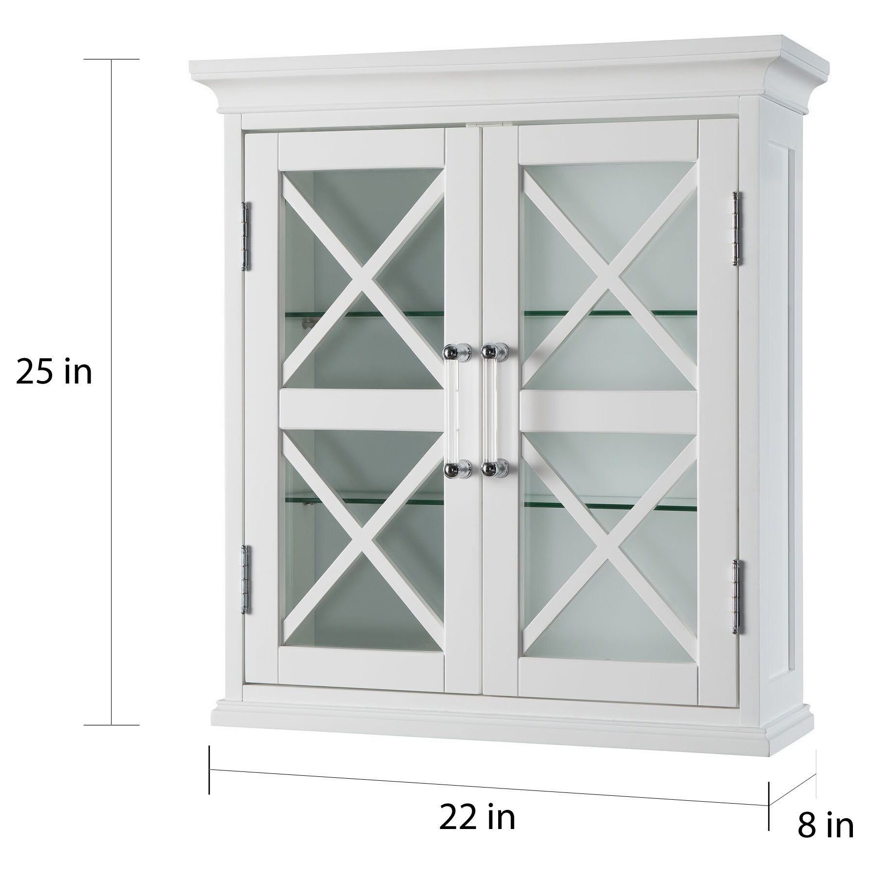 Essential Home Furnishings Elegant Home Fashions Grayson Wall Cabinet With  One Door And Cubbies By